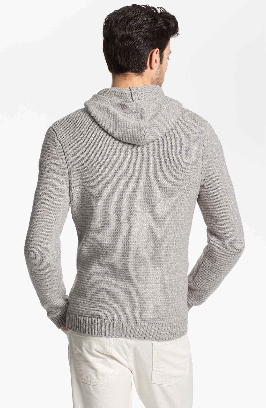 Alternate Image 2  - Vince 'Baja' Knit Pullover Hoodie