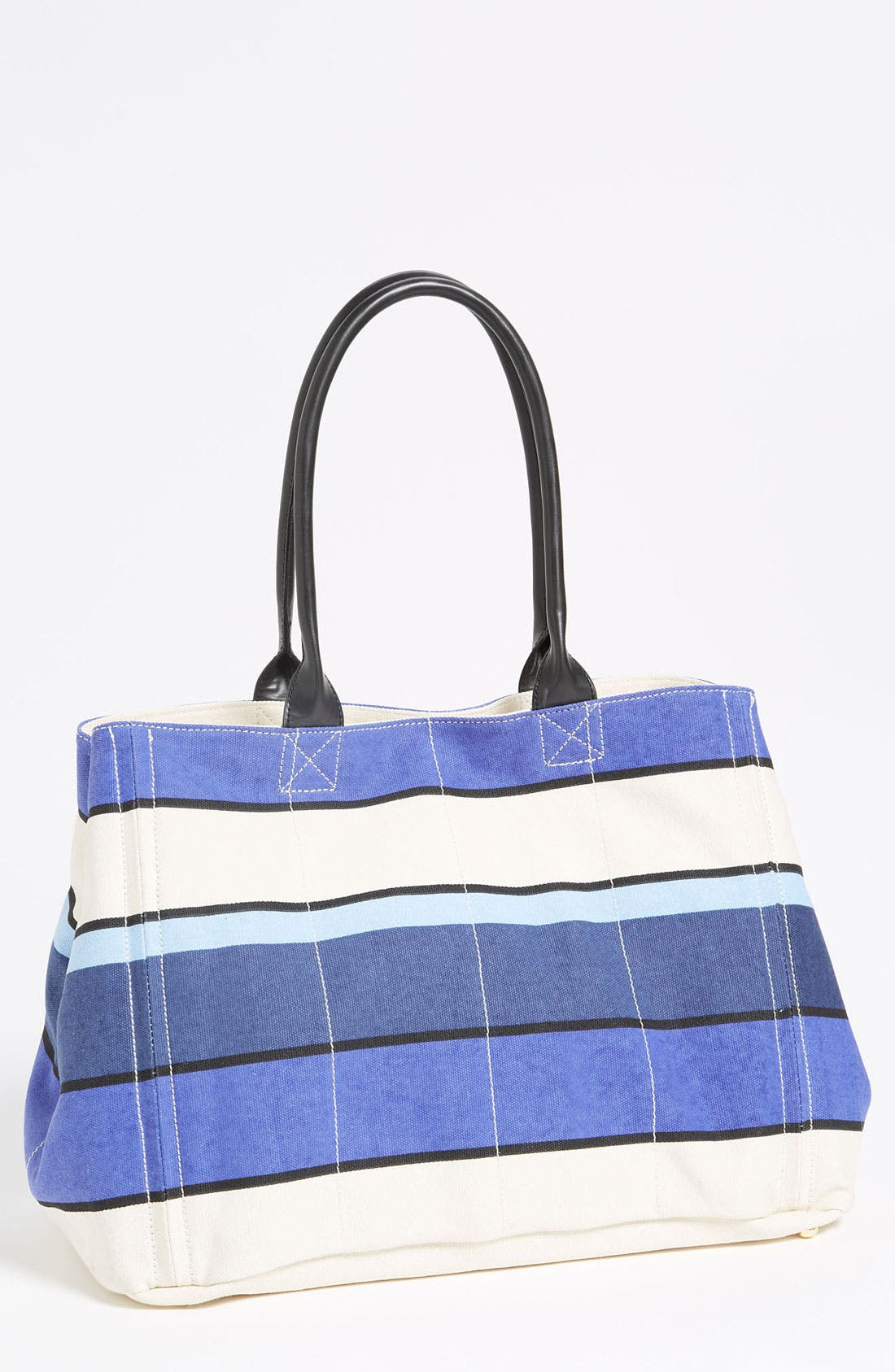 Alternate Image 1 Selected - Tarnish Stripe Canvas Tote