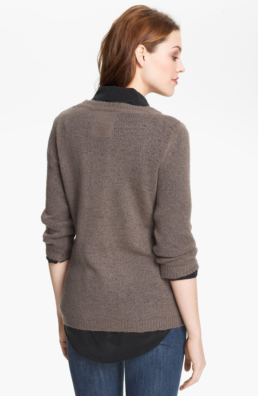 Alternate Image 2  - Press Cross Intarsia Sweater