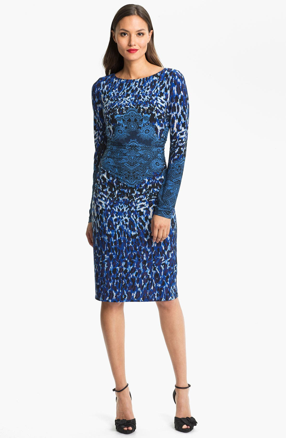 Alternate Image 1 Selected - David Meister Print Jersey Dress