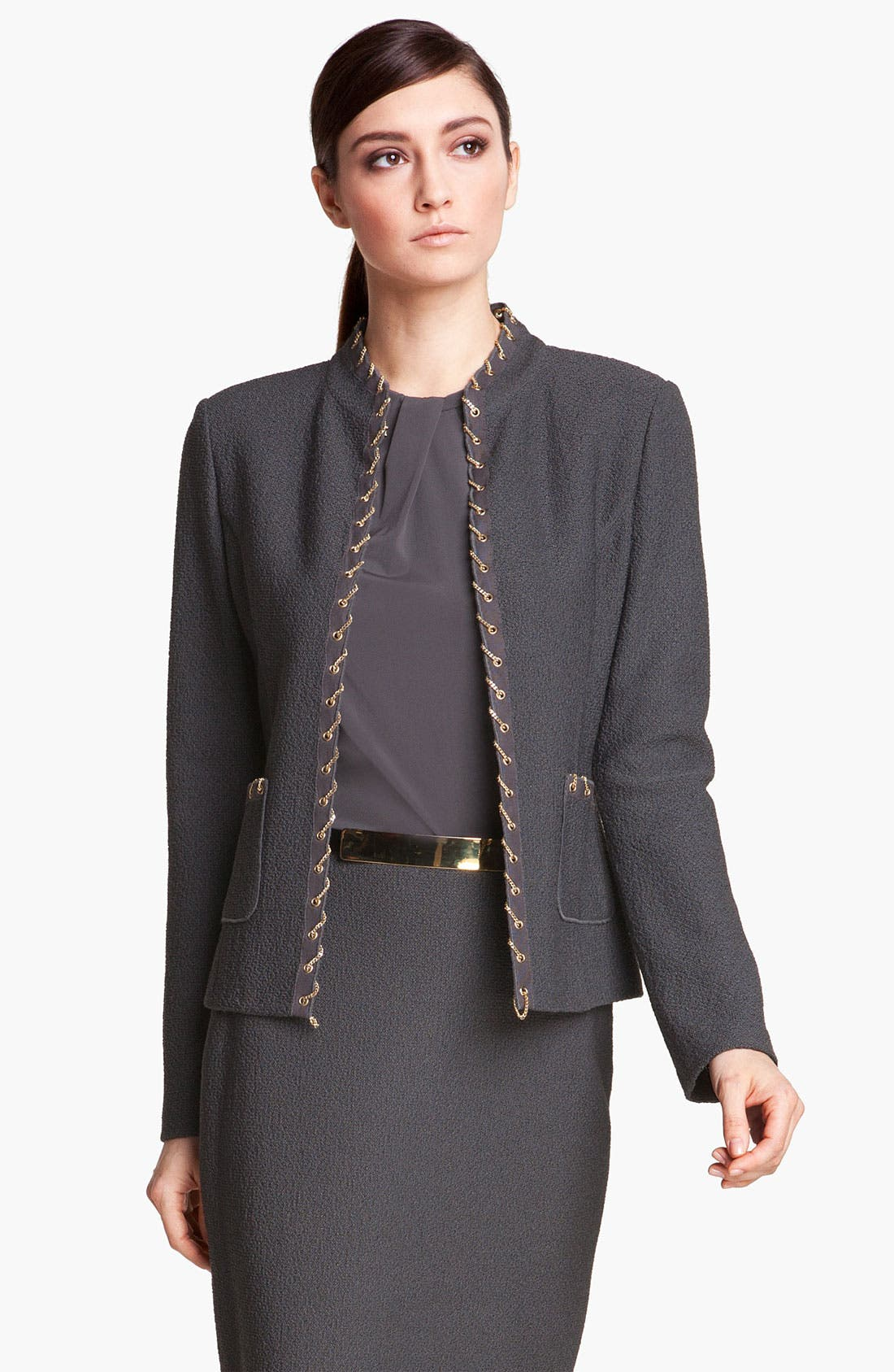 Main Image - St. John Collection Chain Trim Bouclé Jacket