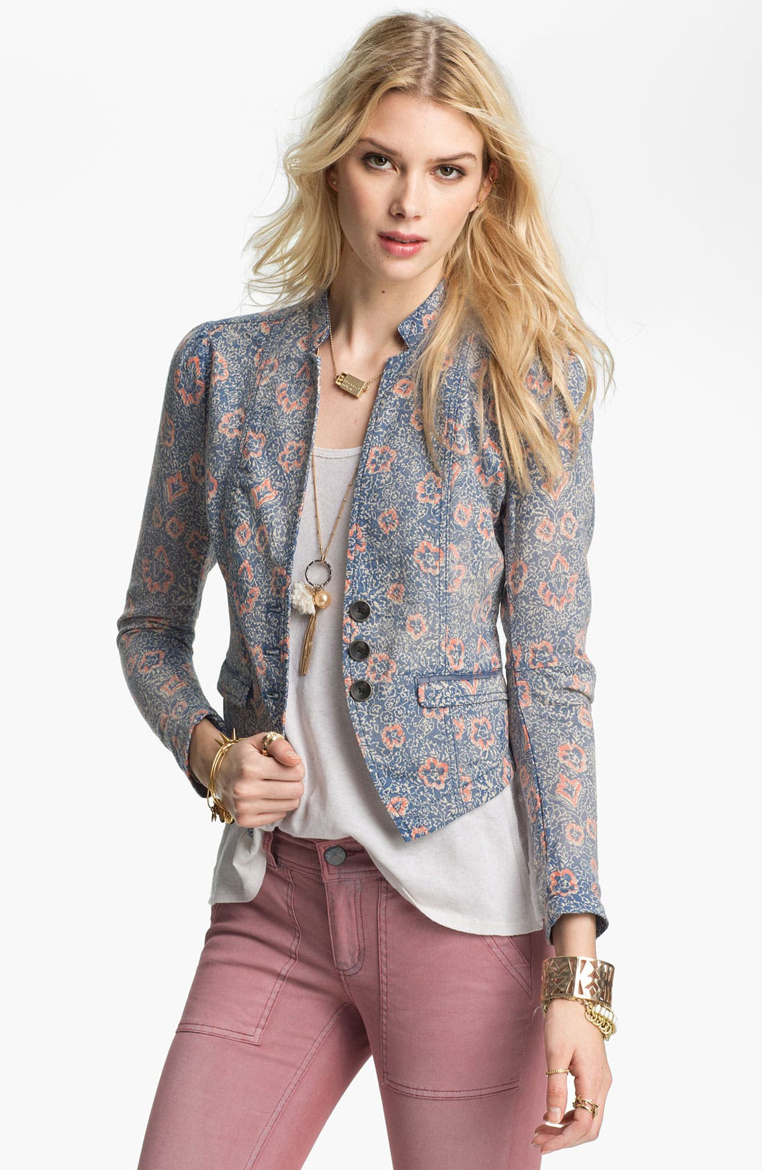 Alternate Image 1 Selected - Free People Floral Print Blazer