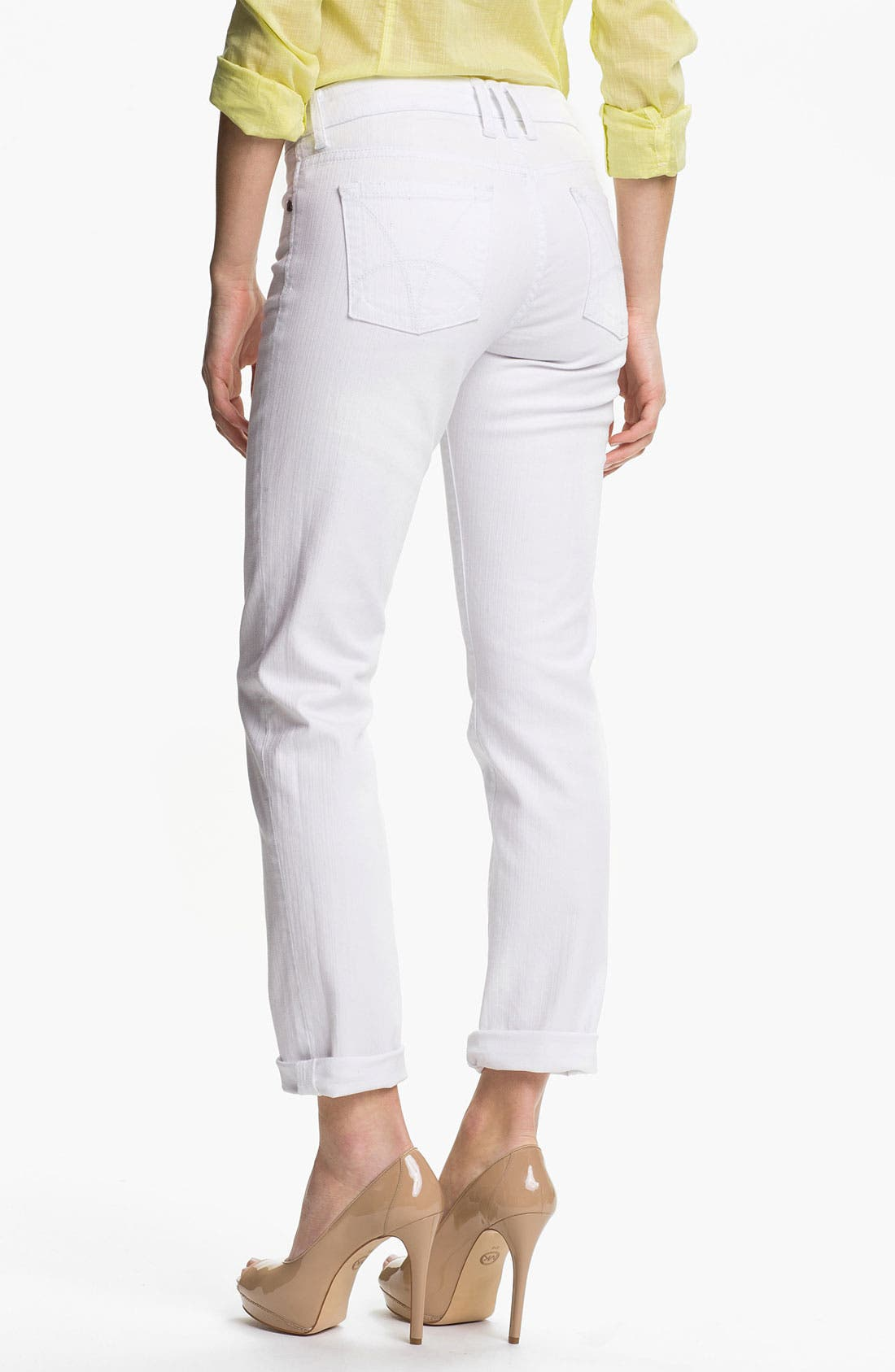 Alternate Image 2  - KUT from the Kloth 'Catherine' Slim Boyfriend Jeans (White)