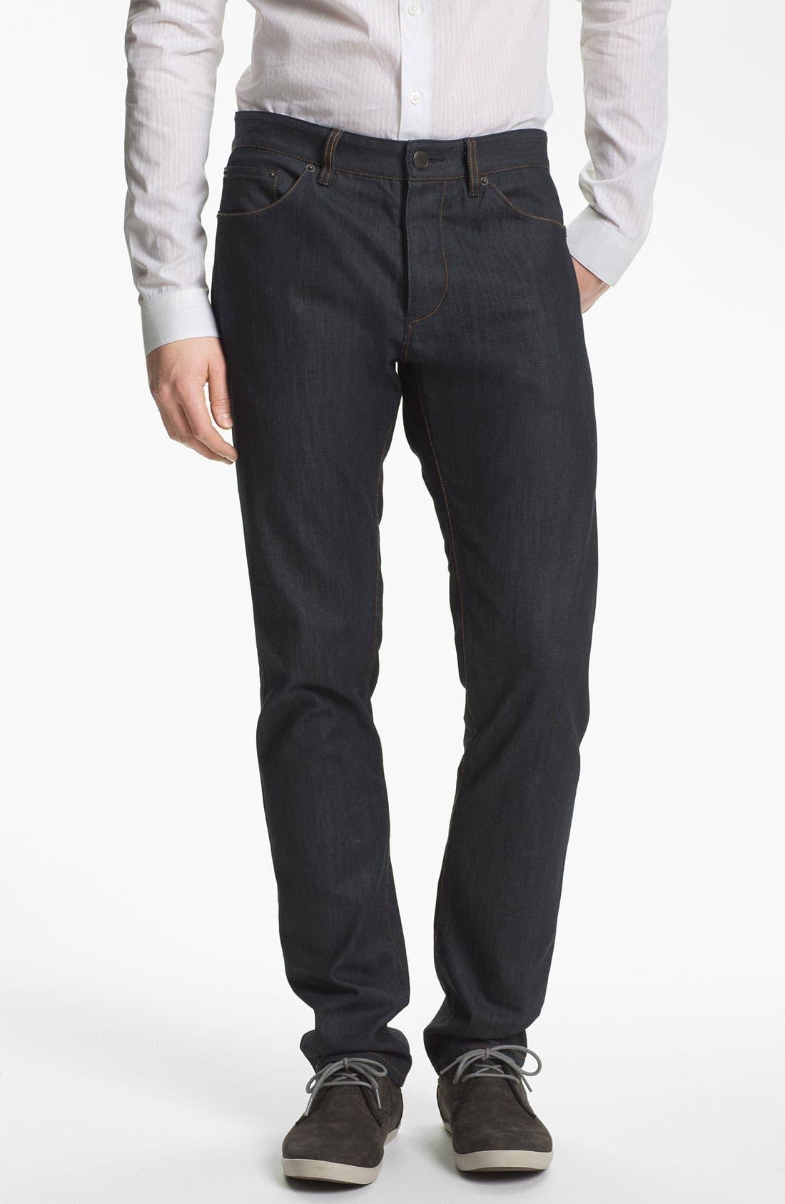 Main Image - Theory 'Raffi P. Gunstock' Straight Leg Jeans (Indigo)