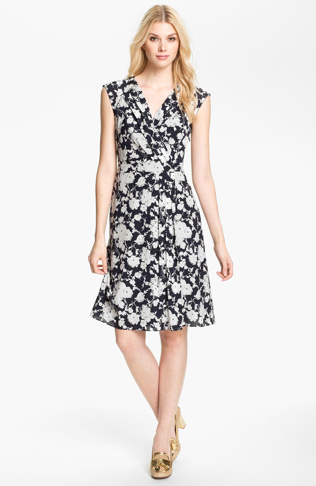 Alternate Image 1 Selected - Tory Burch 'Victoria' Stretch Silk Faux Wrap Dress