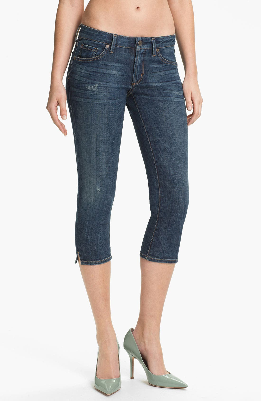 Main Image - Citizens of Humanity 'Racer' Crop Skinny Jeans (Slash)