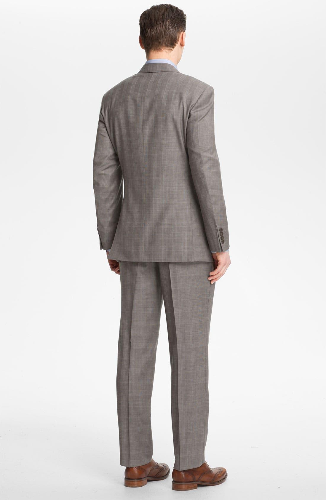 Alternate Image 3  - Canali Plaid Wool Suit