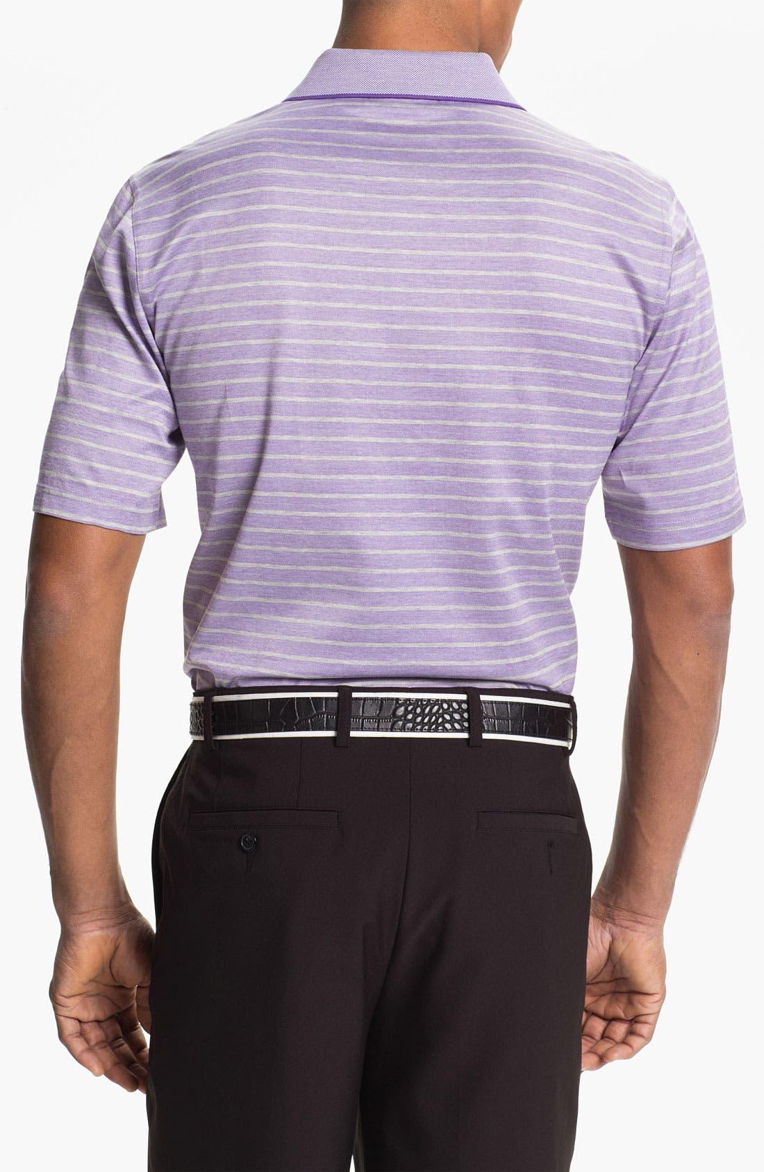 Alternate Image 2  - Bobby Jones Birdseye Stripe Polo