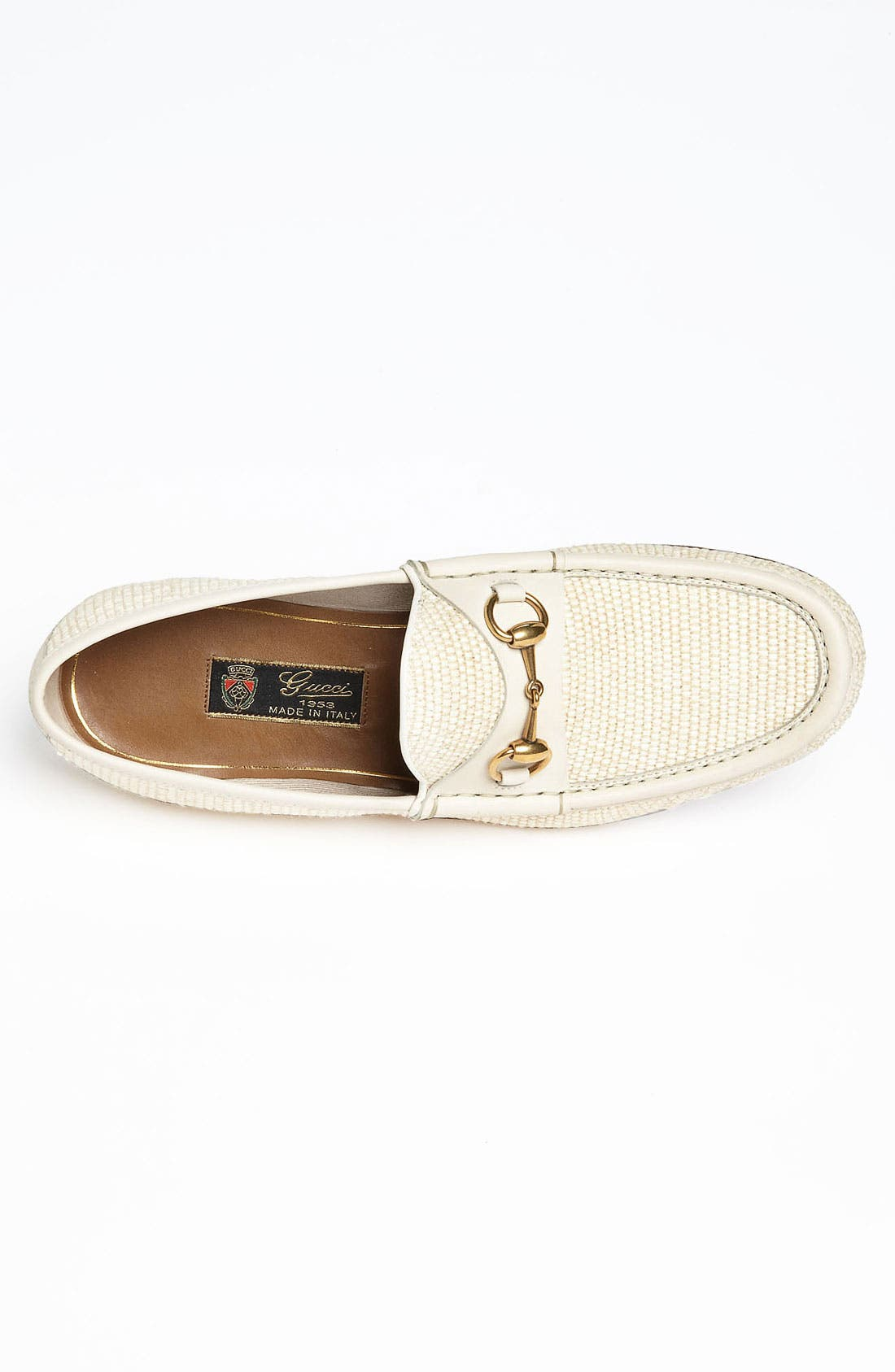 Alternate Image 3  - Gucci 'Roos' Straw Bit Loafer