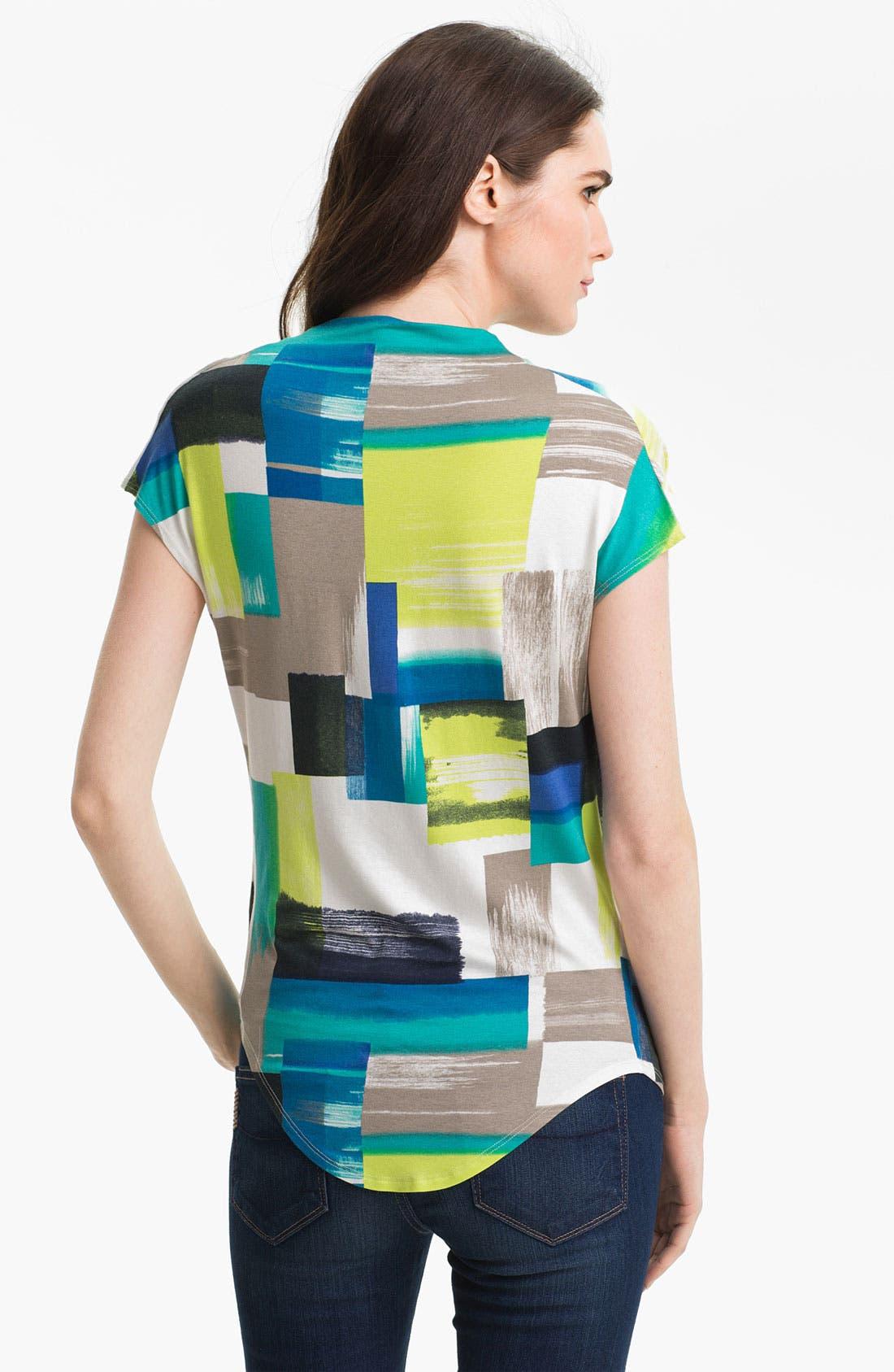 Alternate Image 2  - Karen Kane Drape Neck Print Top