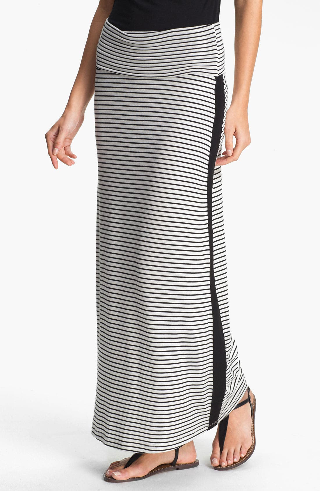 Alternate Image 1 Selected - Everleigh Tuxedo Stripe Maxi Skirt