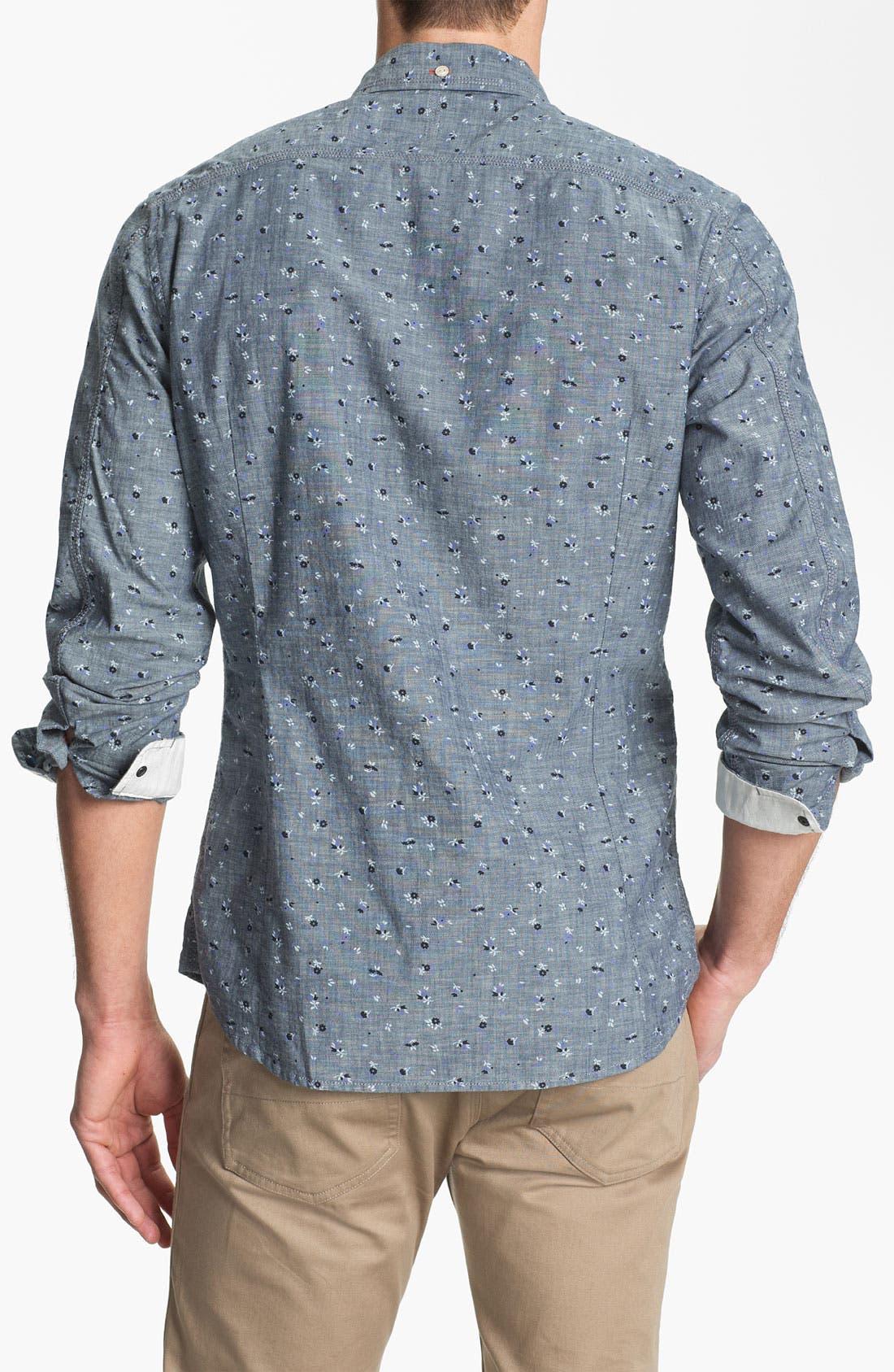 Alternate Image 2  - DIESEL® 'Sermon-R' Floral Print Chambray Shirt