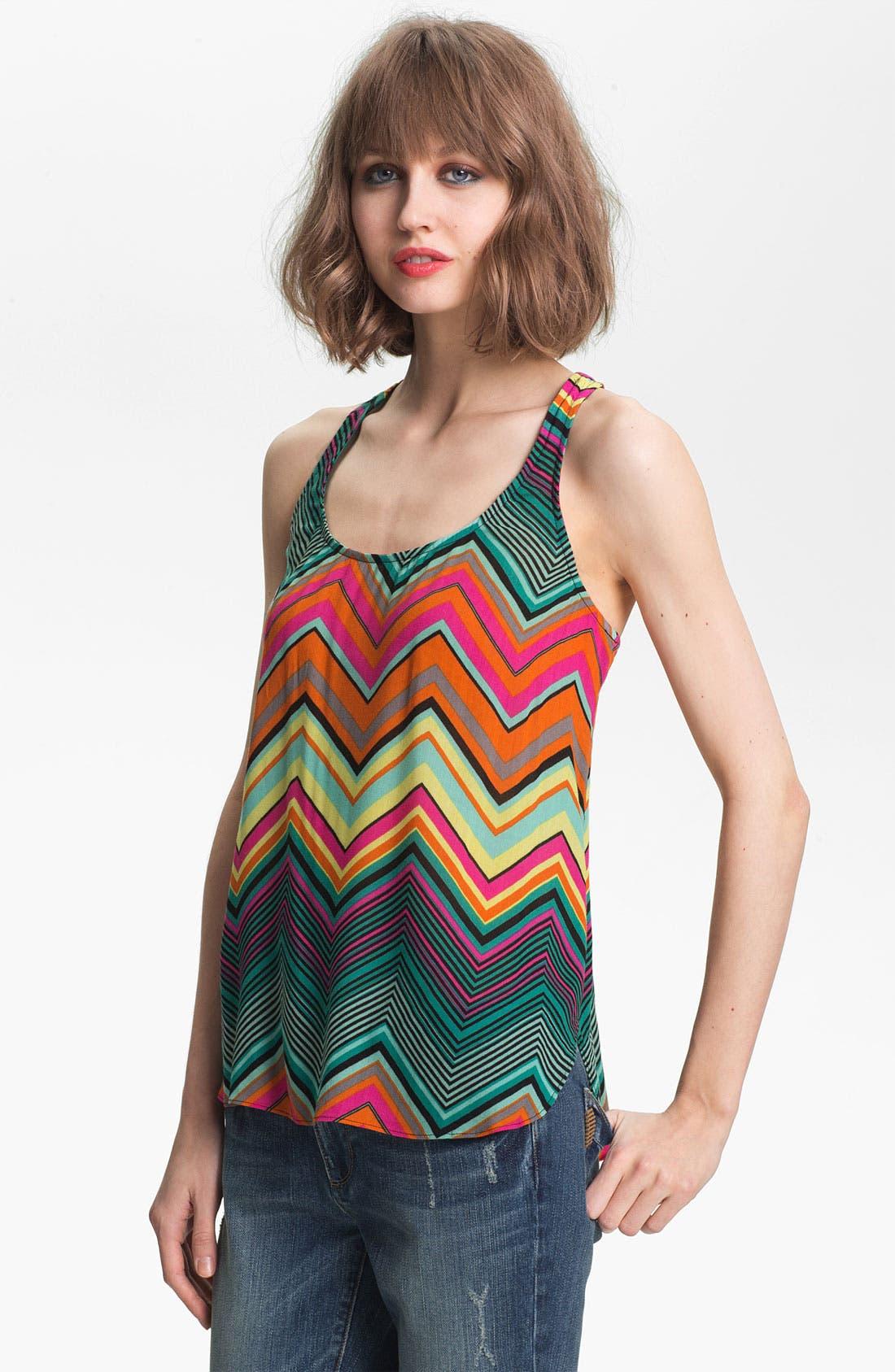 Alternate Image 1 Selected - Ella Moss 'Sunstream' Zigzag Stripe Tank
