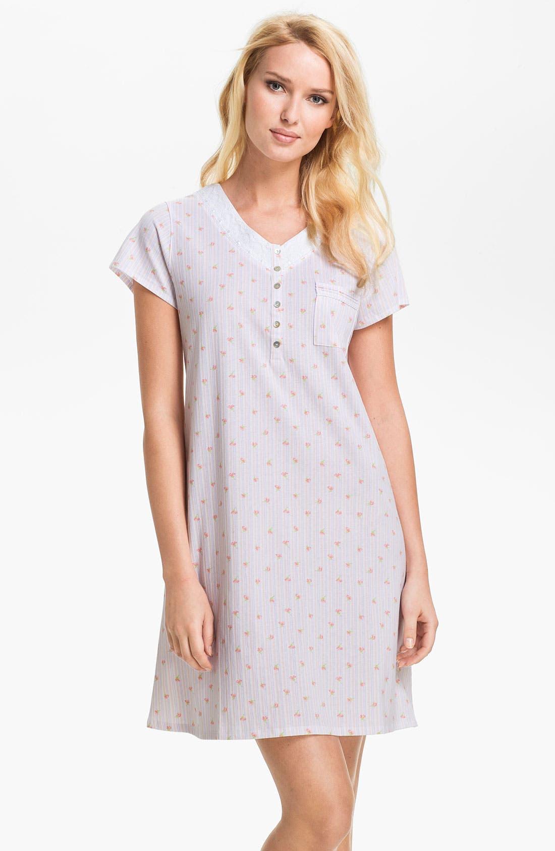 Alternate Image 1 Selected - Eileen West 'Pastoral Beauty' Sleep Shirt