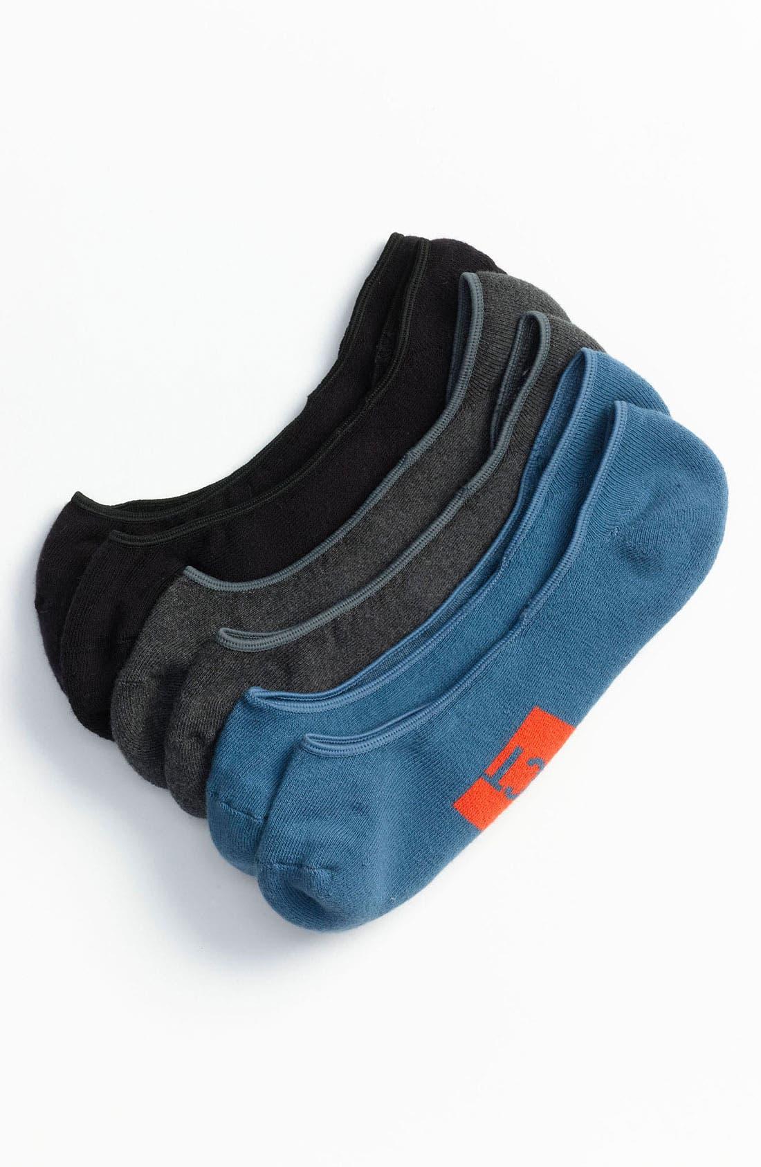 Alternate Image 1 Selected - Pact No-Show Socks (3-Pack) (Men)
