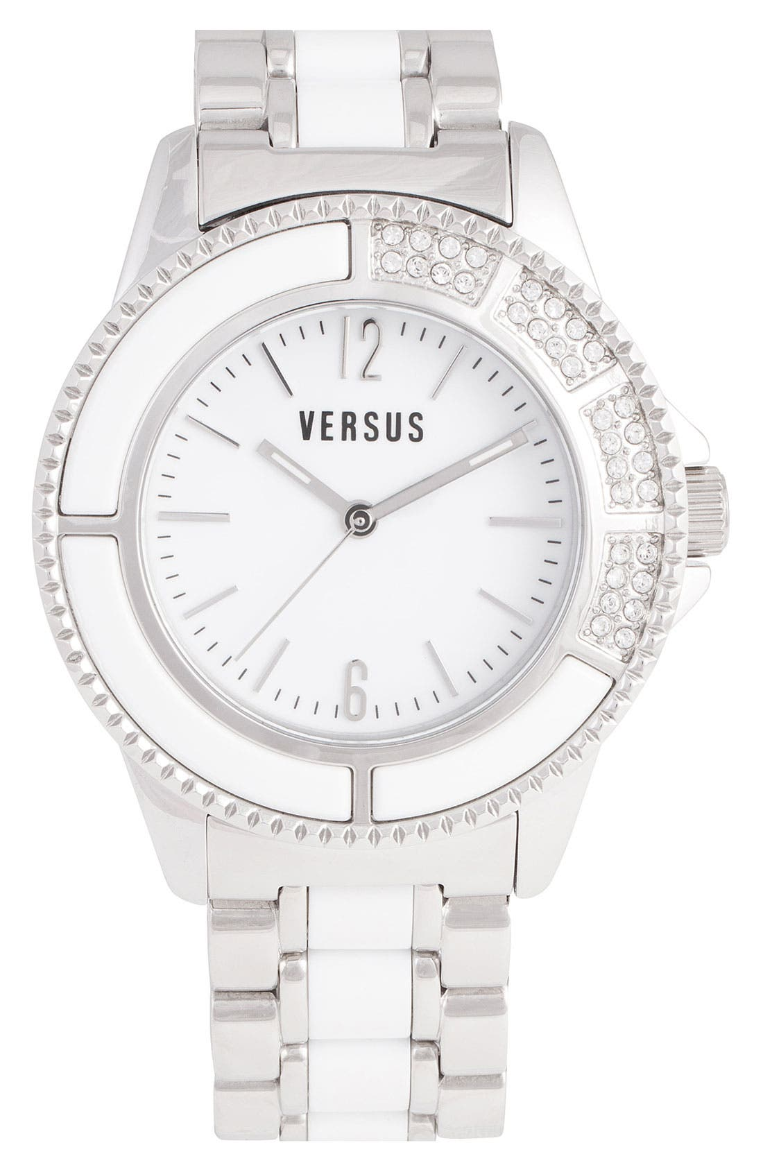 Alternate Image 1 Selected - VERSUS by Versace 'Tokyo' Crystal Accent Bracelet Watch, 42mm