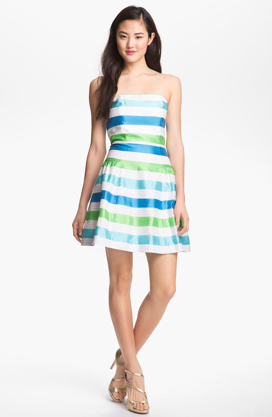 Alternate Image 1 Selected - Lilly Pulitzer® Stripe Strapless Fit & Flare Dress