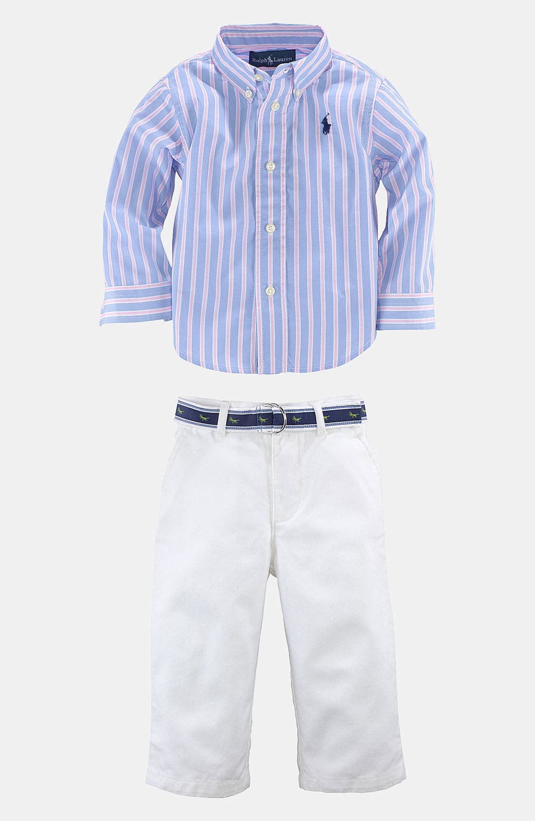 Alternate Image 1 Selected - Ralph Lauren Shirt & Pants (Baby)