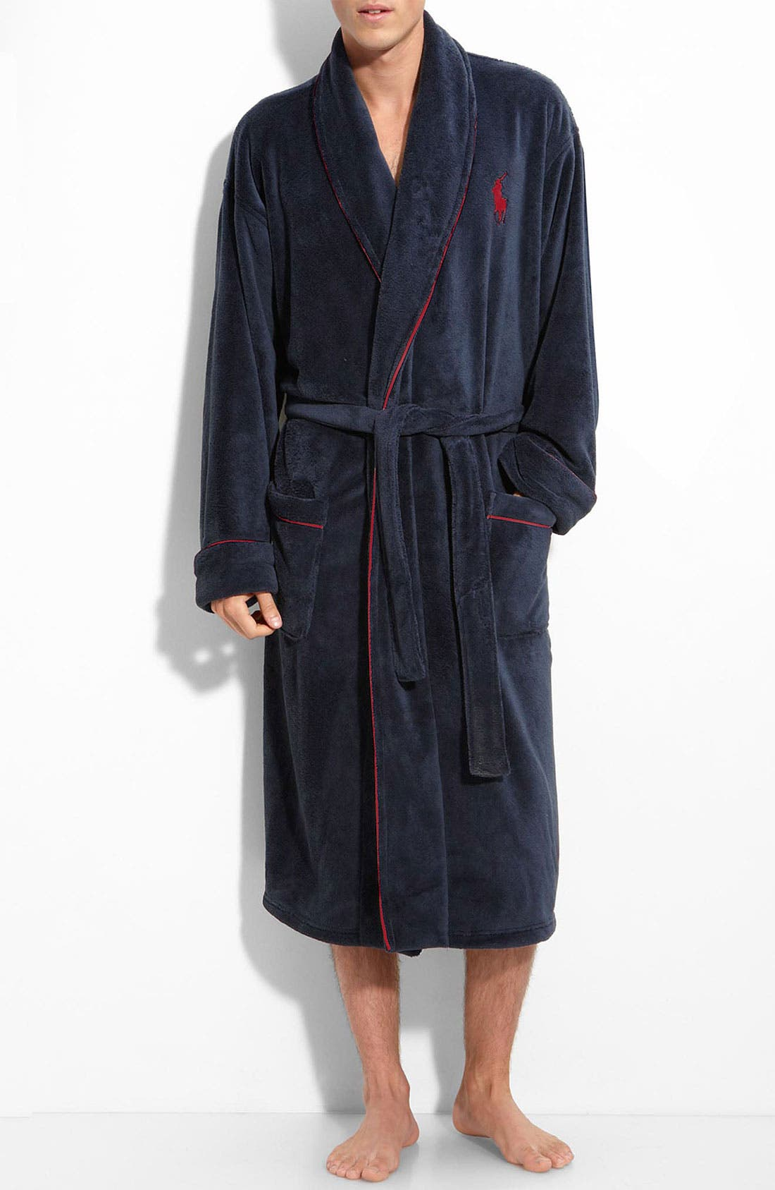 Alternate Image 1 Selected - Polo Ralph Lauren Microfiber Robe