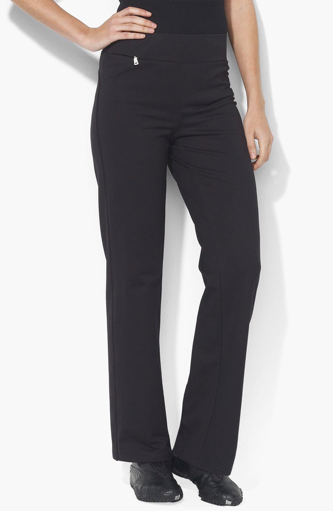 Main Image - Lauren Ralph Lauren Pull-On Knit Pants (Petite) (Online Exclusive)
