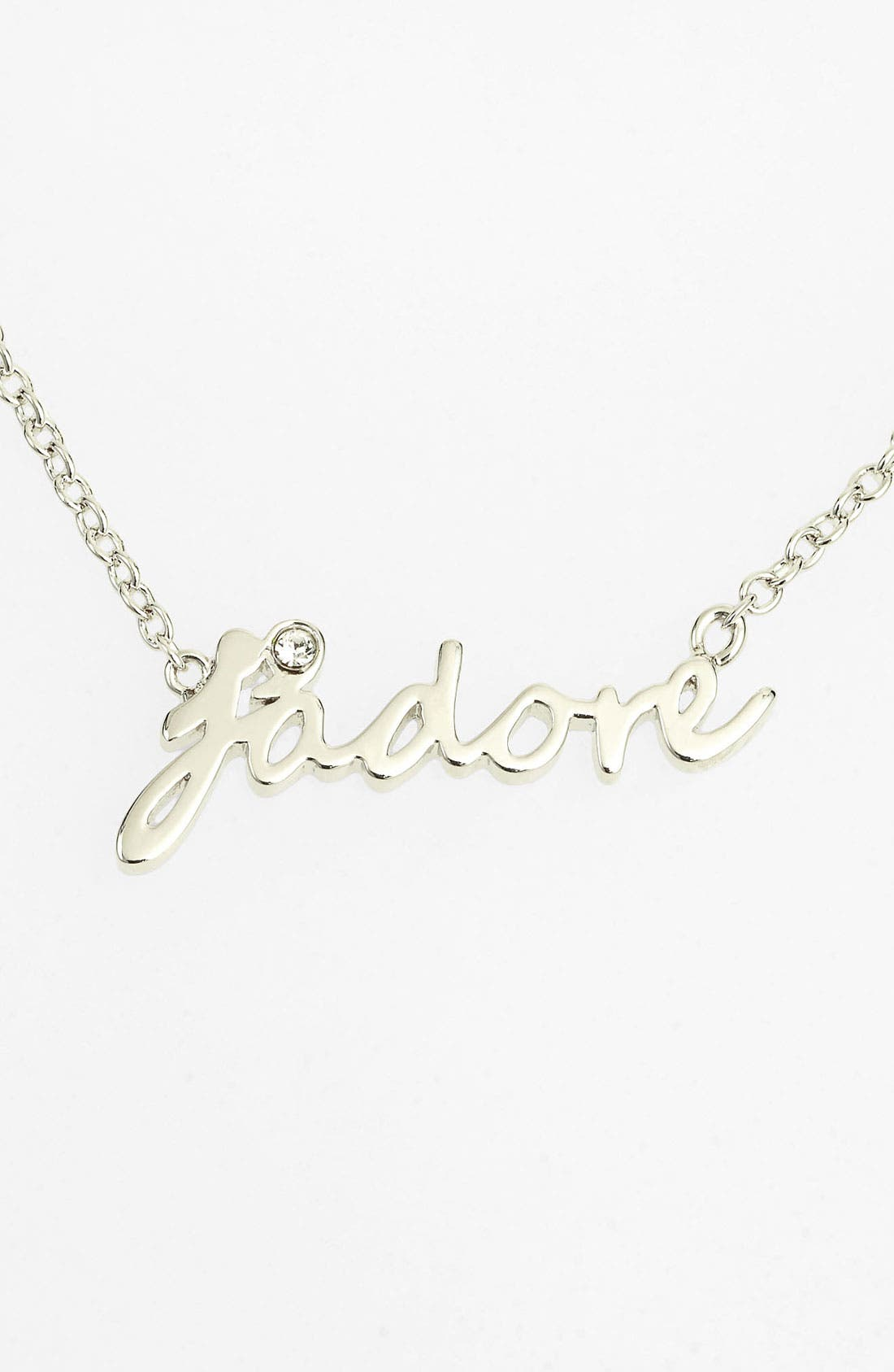 Alternate Image 1 Selected - Ariella Collection 'Messages - J'Adore' Script Pendant Necklace