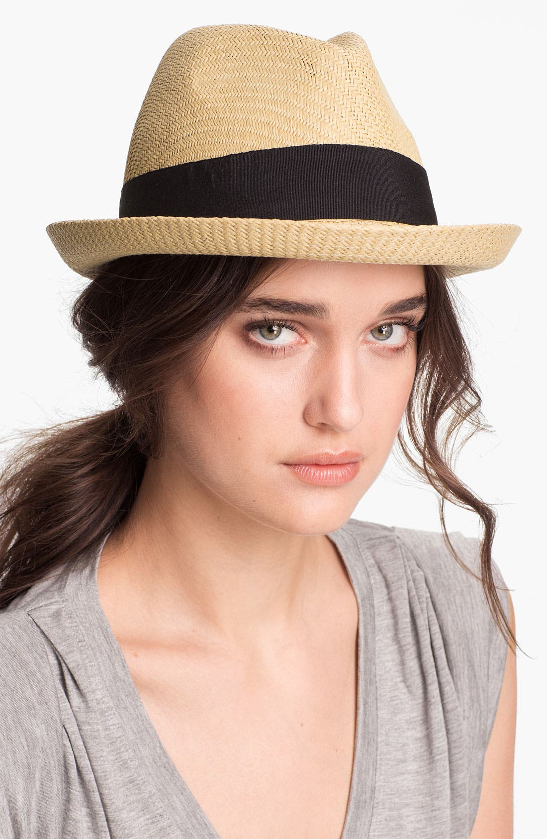 Main Image - Tarnish Grosgrain Ribbon Fedora
