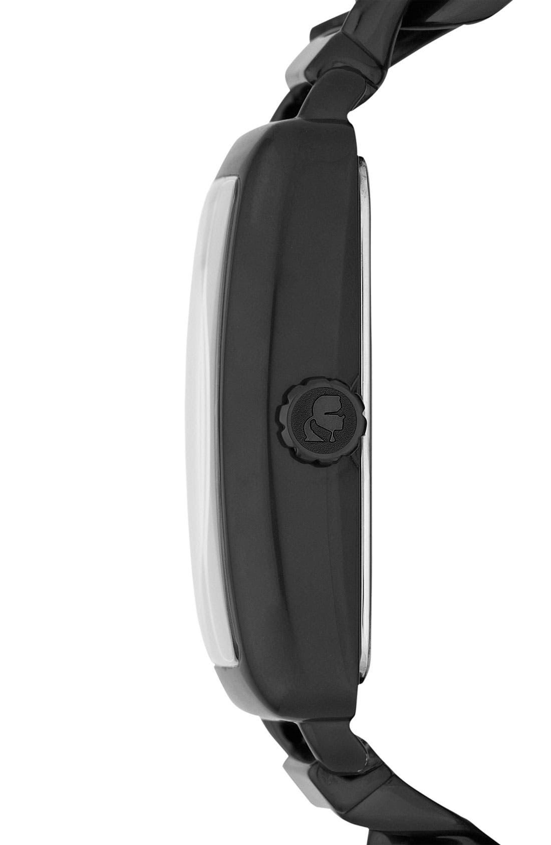 Alternate Image 2  - KARL LAGERFELD 'Kourbe' Double Wrap Bracelet Watch, 28mm x 41mm