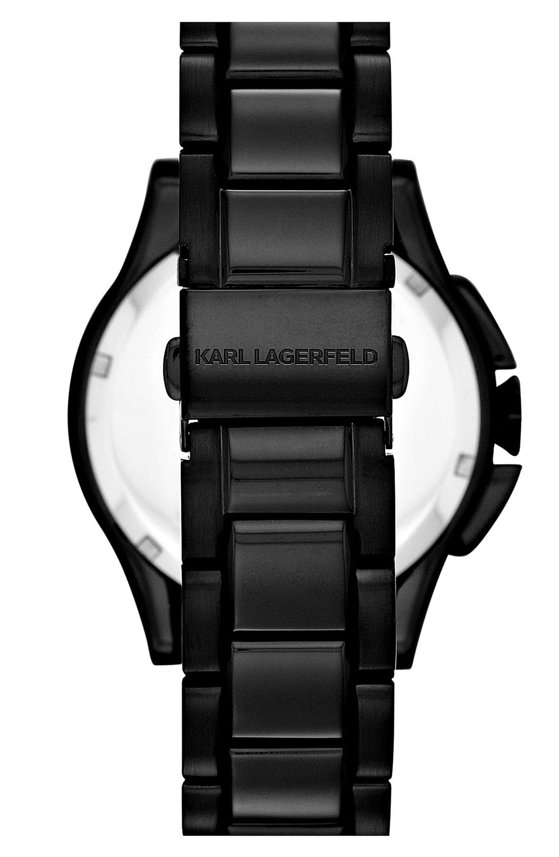 Alternate Image 3  - KARL LAGERFELD 'Energy' Chronograph Bracelet Watch, 40mm
