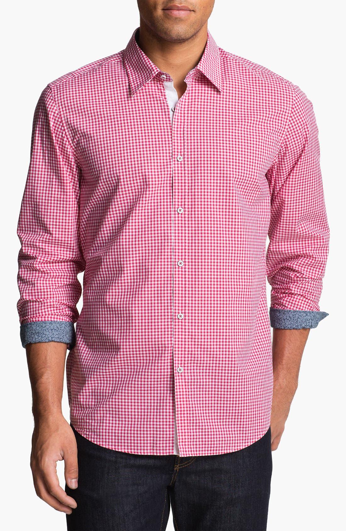 Alternate Image 1 Selected - BOSS Black 'Obert' Regular Fit Sport Shirt