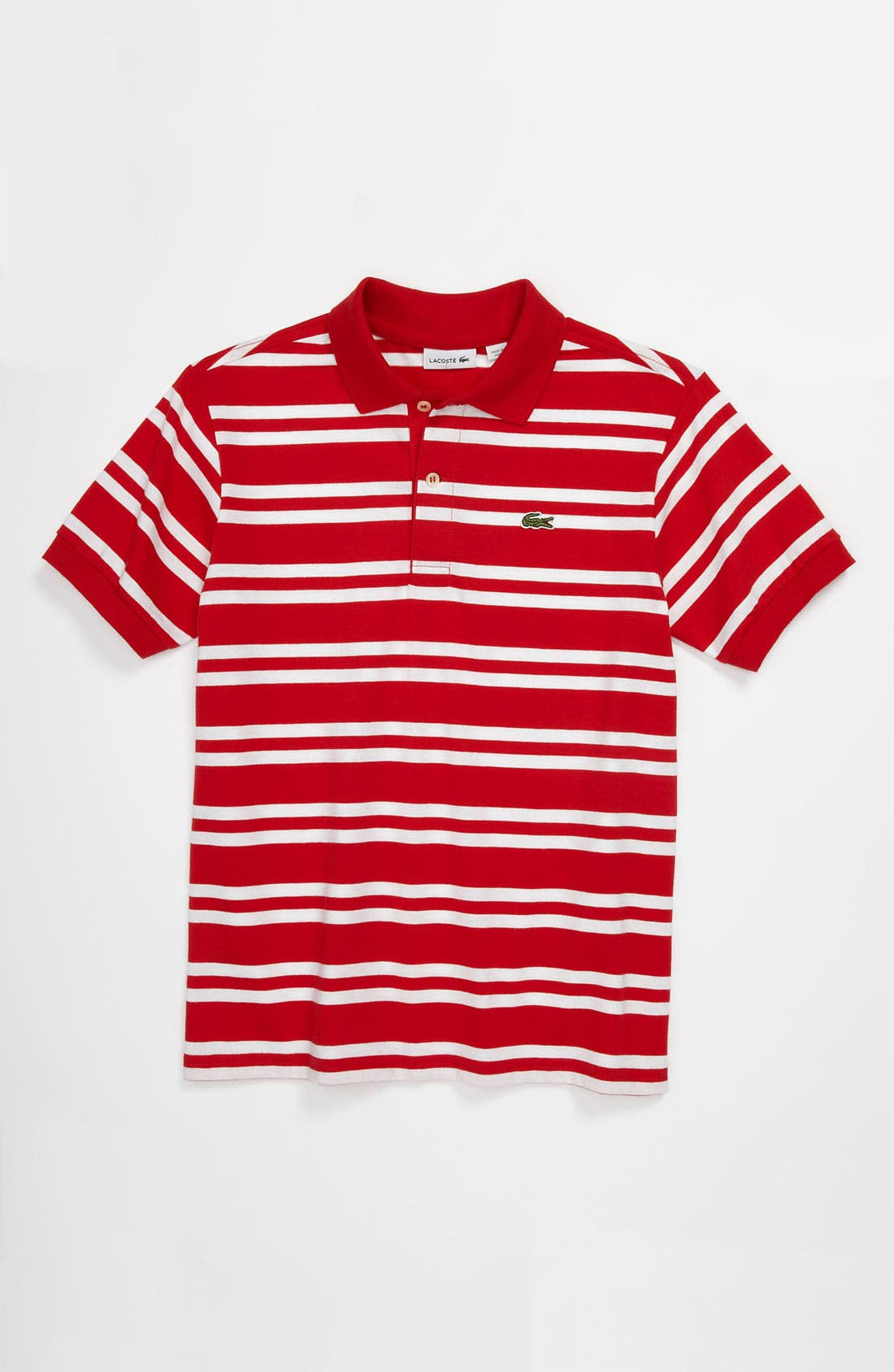 Alternate Image 1 Selected - Lacoste Stripe Jersey Polo (Little Boys & Big Boys)