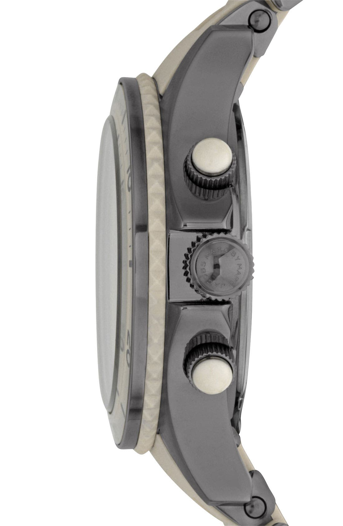 Alternate Image 2  - MARC JACOBS 'Rock' Chronograph Silicone Bracelet Watch, 40mm