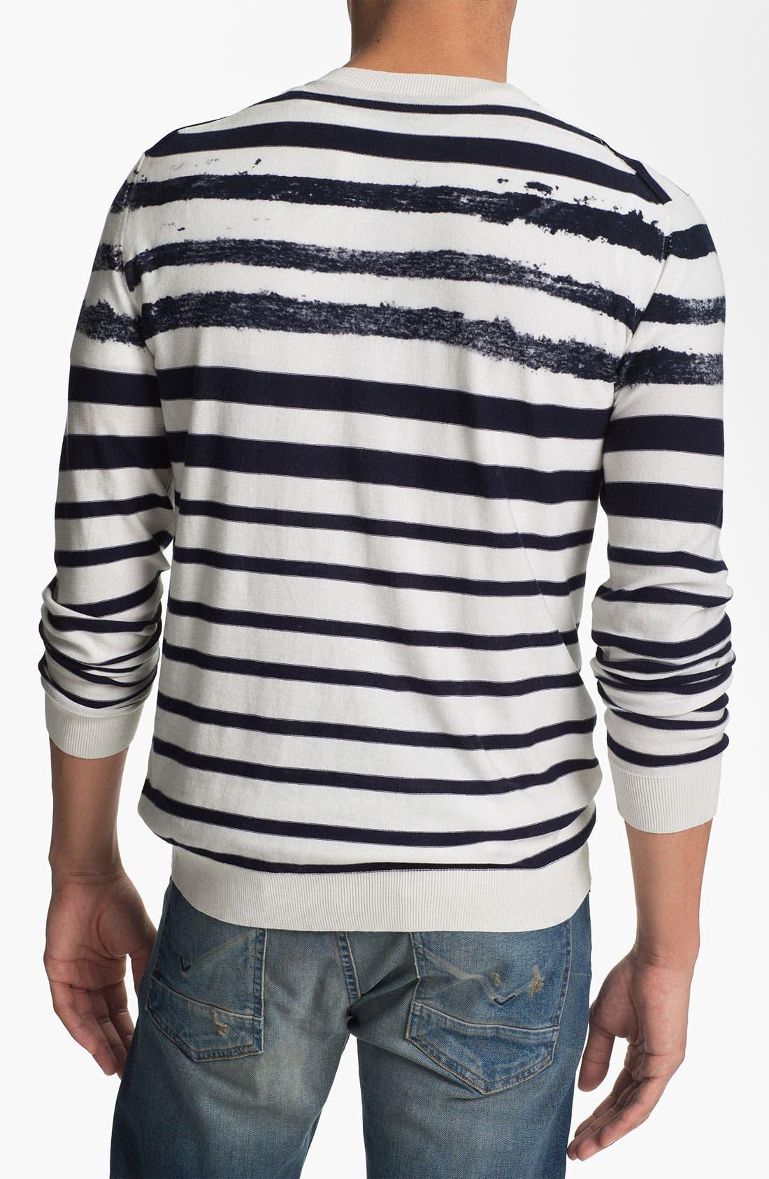 Alternate Image 2  - Edun Stripe Crewneck Sweater