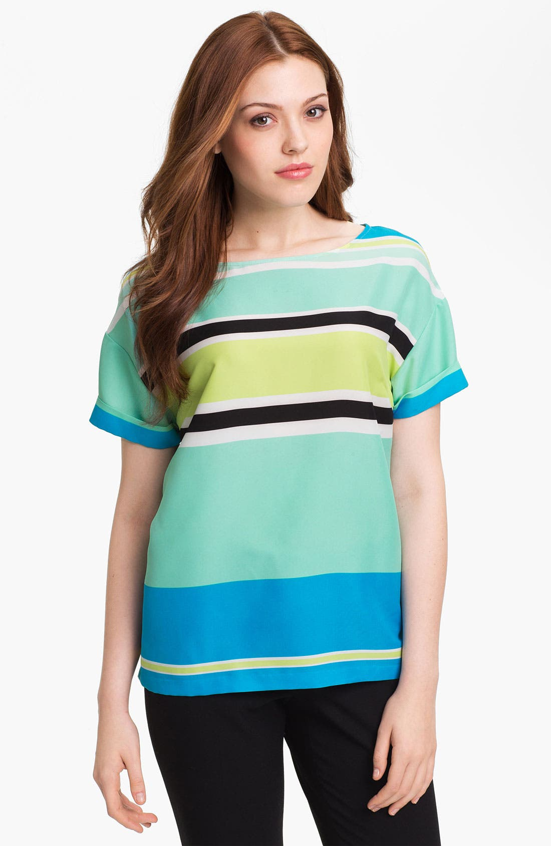 Alternate Image 1 Selected - Vince Camuto Variegated Stripe Blouse