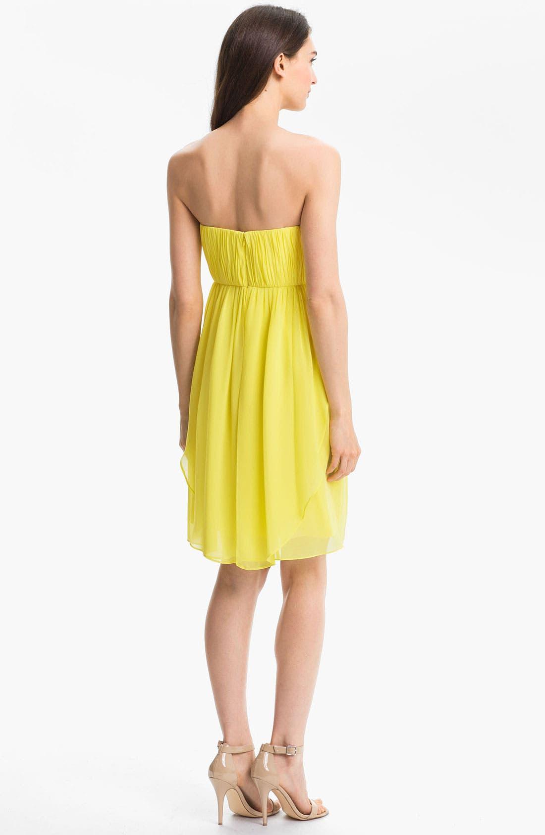 Alternate Image 2  - Donna Morgan Sweetheart Chiffon Dress