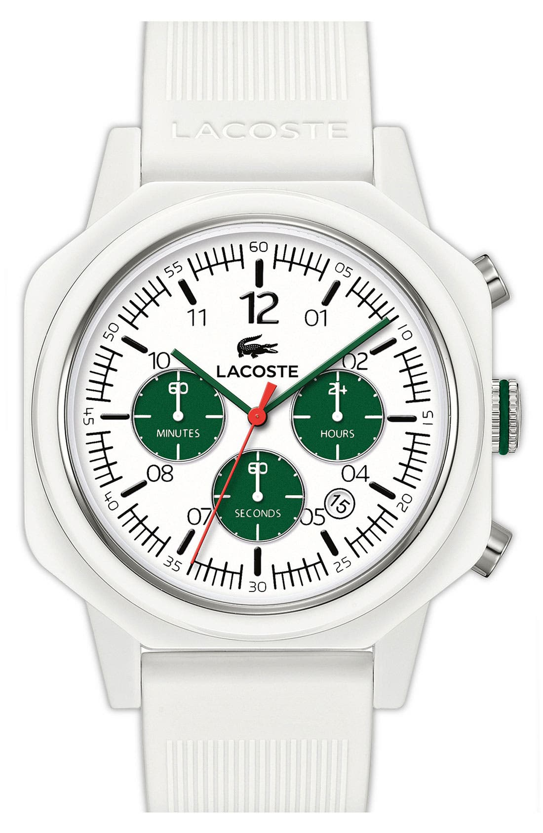 Alternate Image 1 Selected - Lacoste '80th Anniversary' Chronograph Watch, 44mm