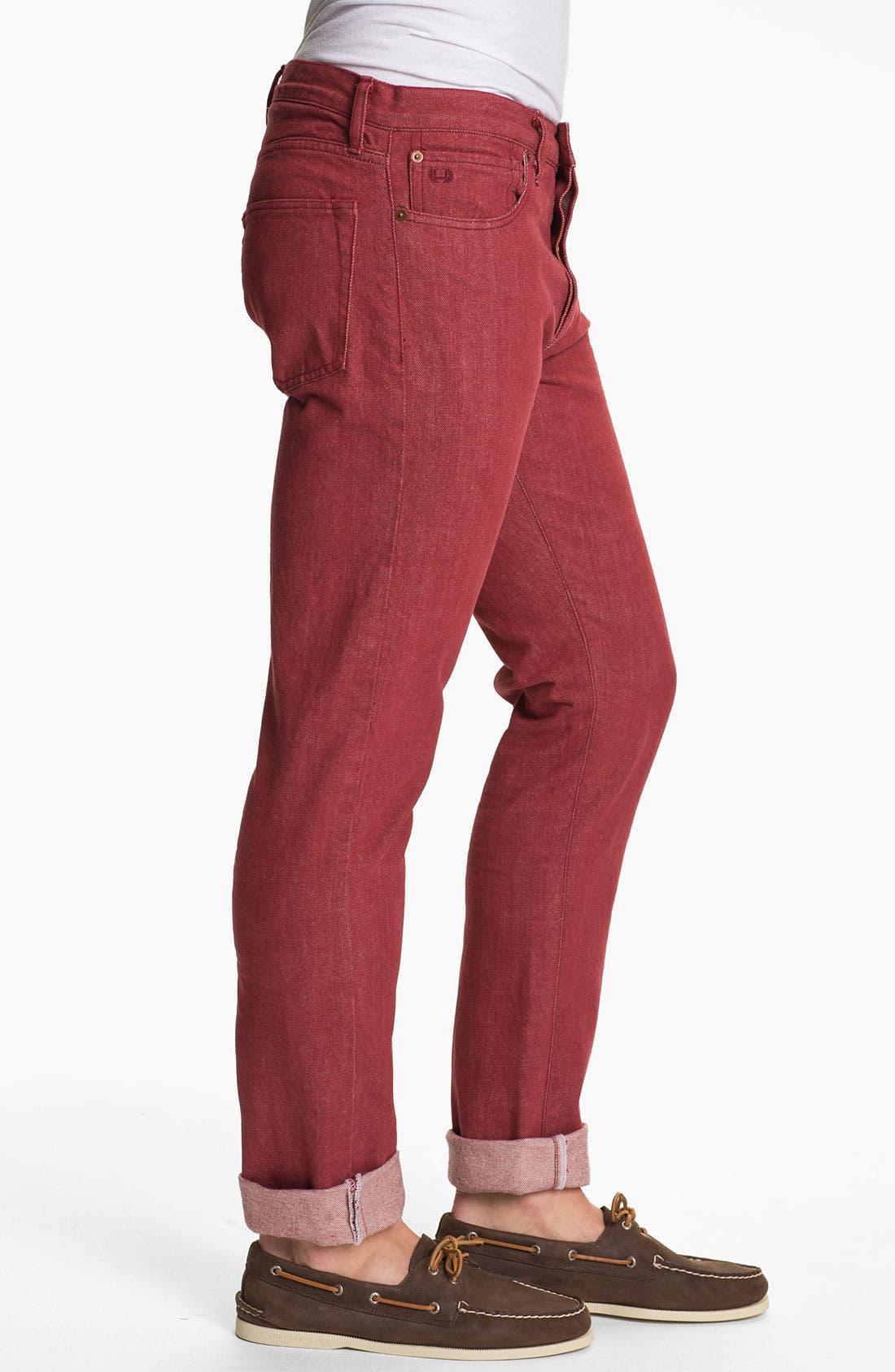 Alternate Image 3  - J. Press York Street 'Hanover' Slim Fit Selvedge Jeans