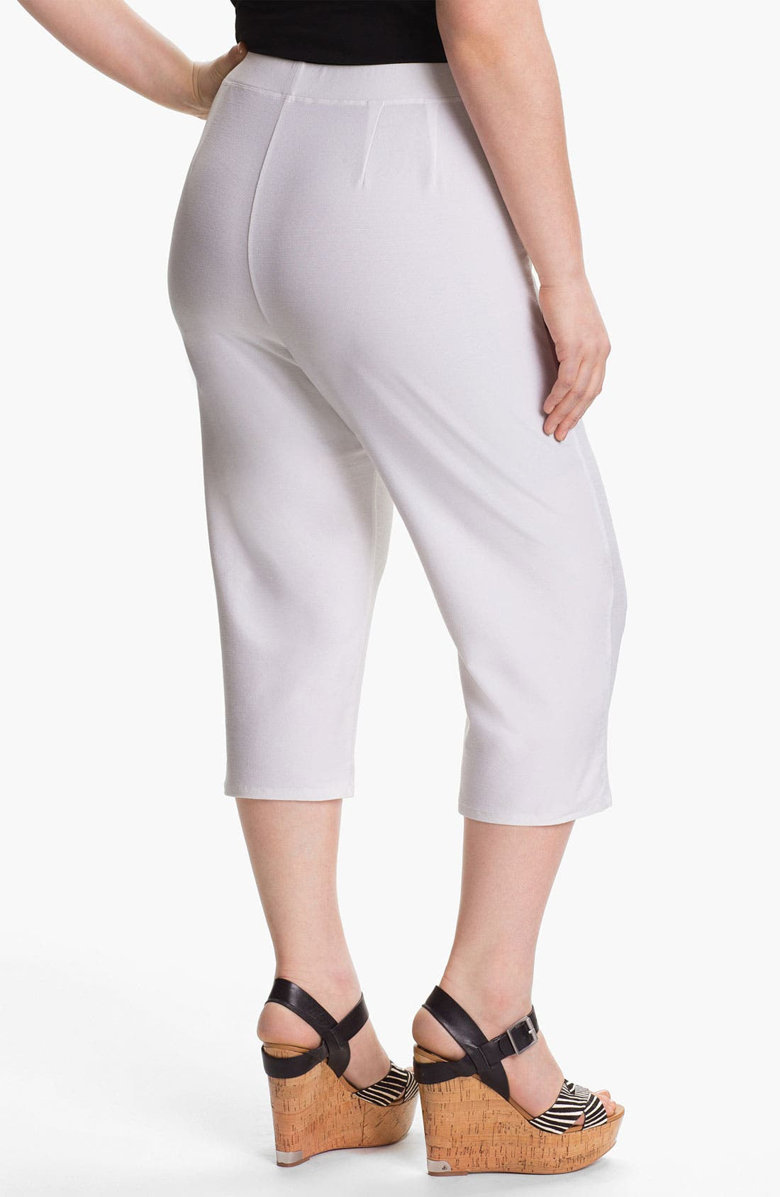 Alternate Image 2  - Eileen Fisher Slim Capris (Plus)