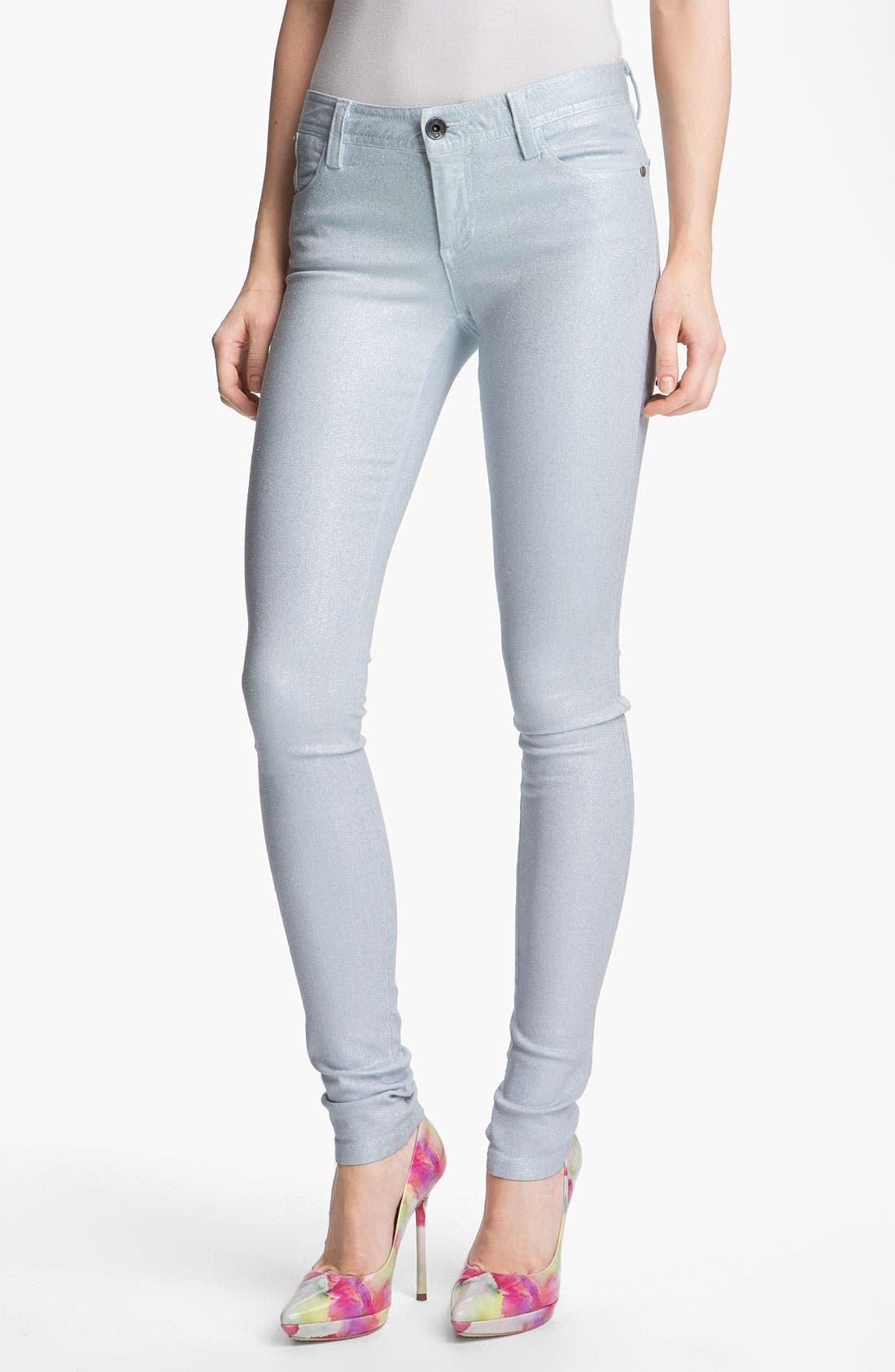 Main Image - Alice + Olivia Glitter Skinny Stretch Jeans