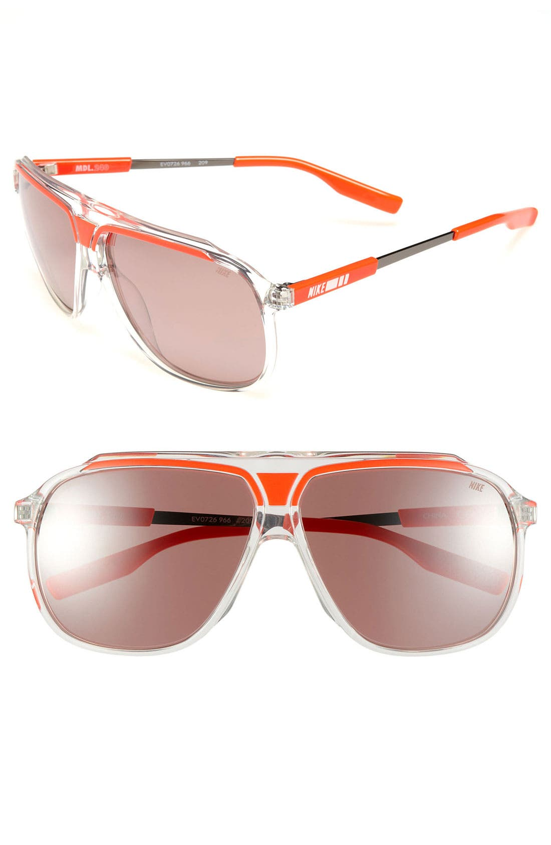 Main Image - Nike 63mm Aviator Sunglasses
