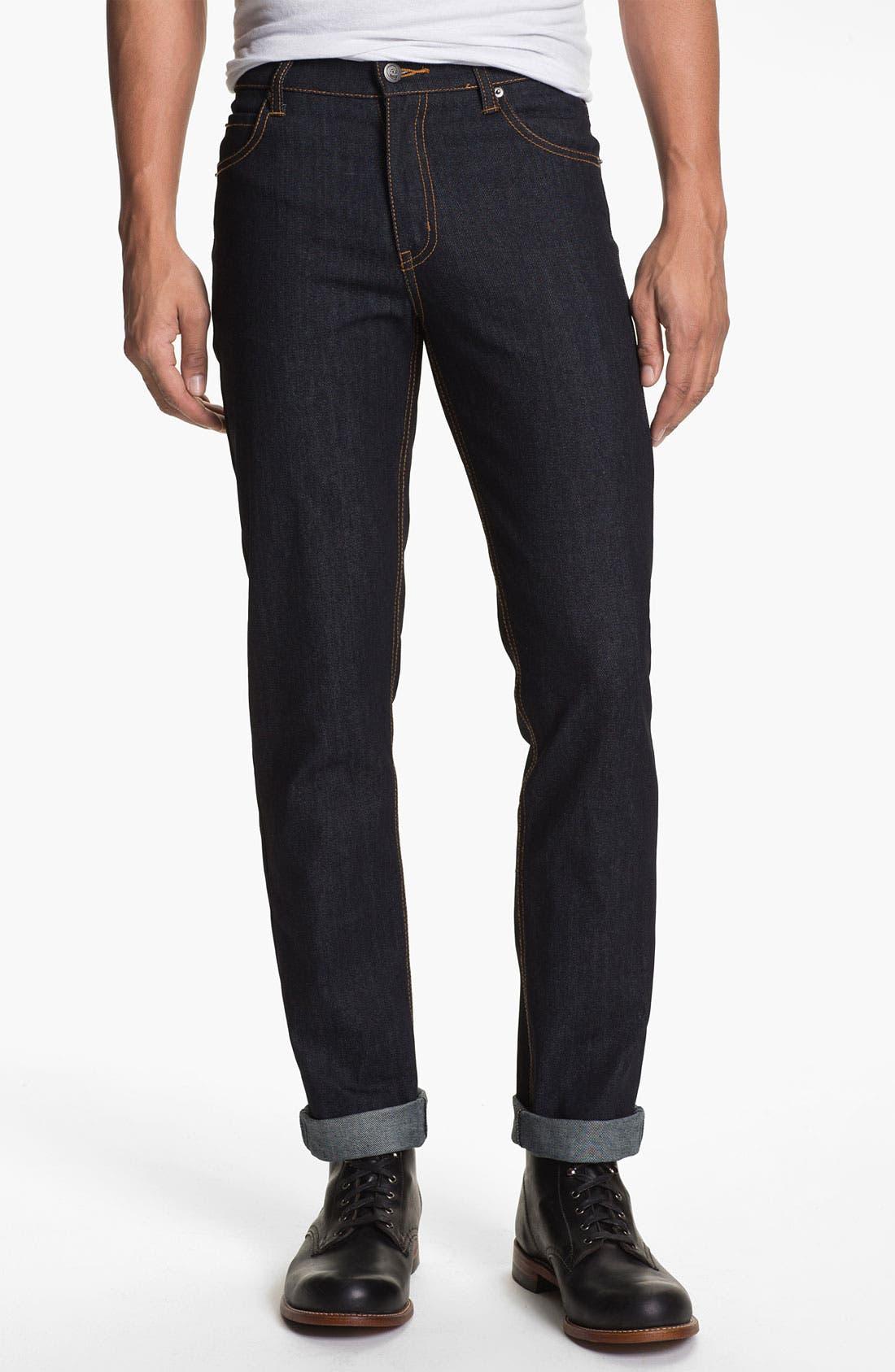 Alternate Image 2  - Cheap Monday Slim Straight Leg Jeans (Original Unwashed)