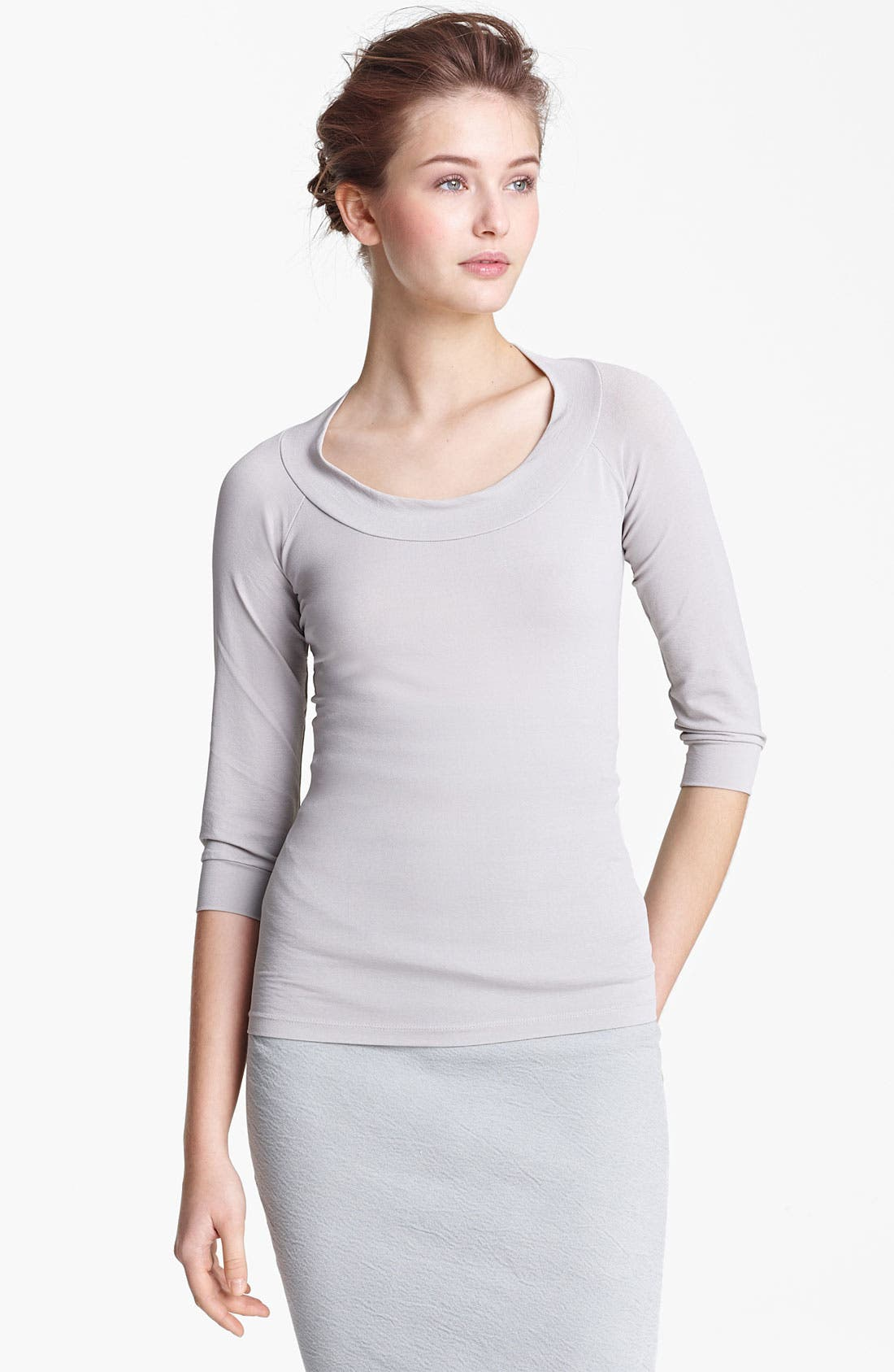 Alternate Image 1 Selected - Donna Karan Collection Matte Jersey Top