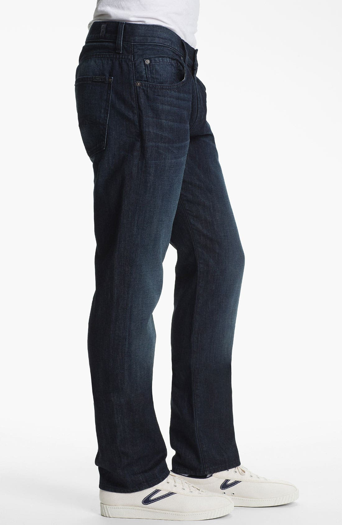 Alternate Image 3  - 7 For All Mankind® 'Slimmy' Slim Straight Leg Jeans (Manhattan Bay)