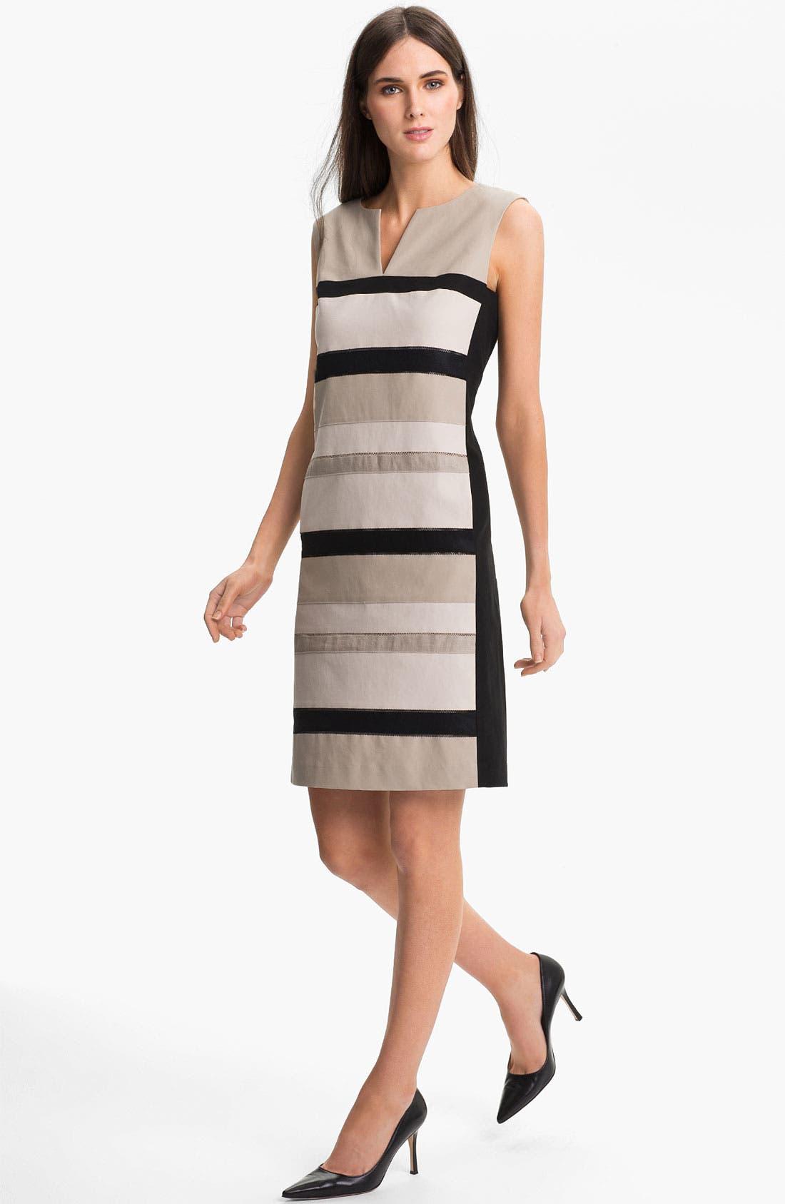 Alternate Image 1  - Lafayette 148 New York 'Noel - Metropolitan Stretch' Dress (Online Only)