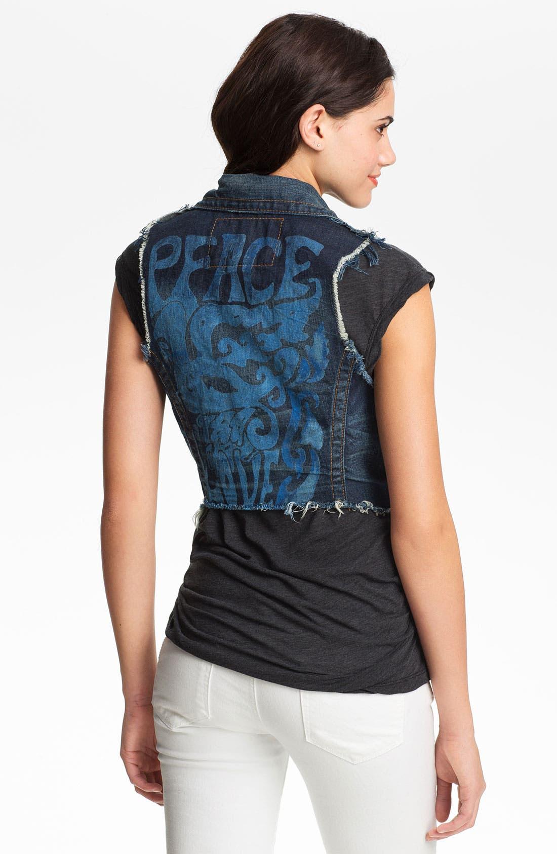 Alternate Image 2  - True Religion Brand Jeans 'Jada' Cutoff Denim Vest
