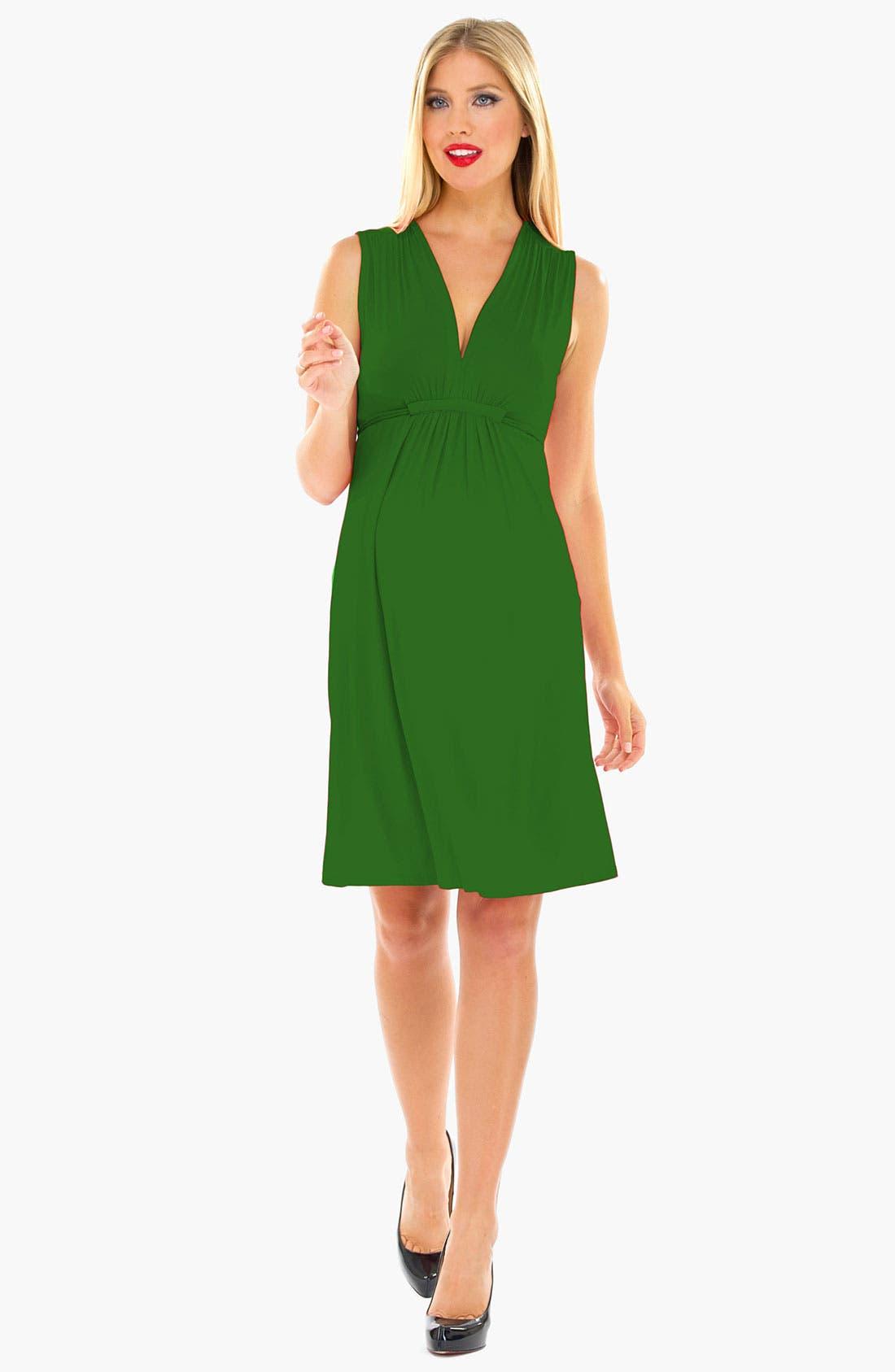 Olian Sleeveless Maternity Dress