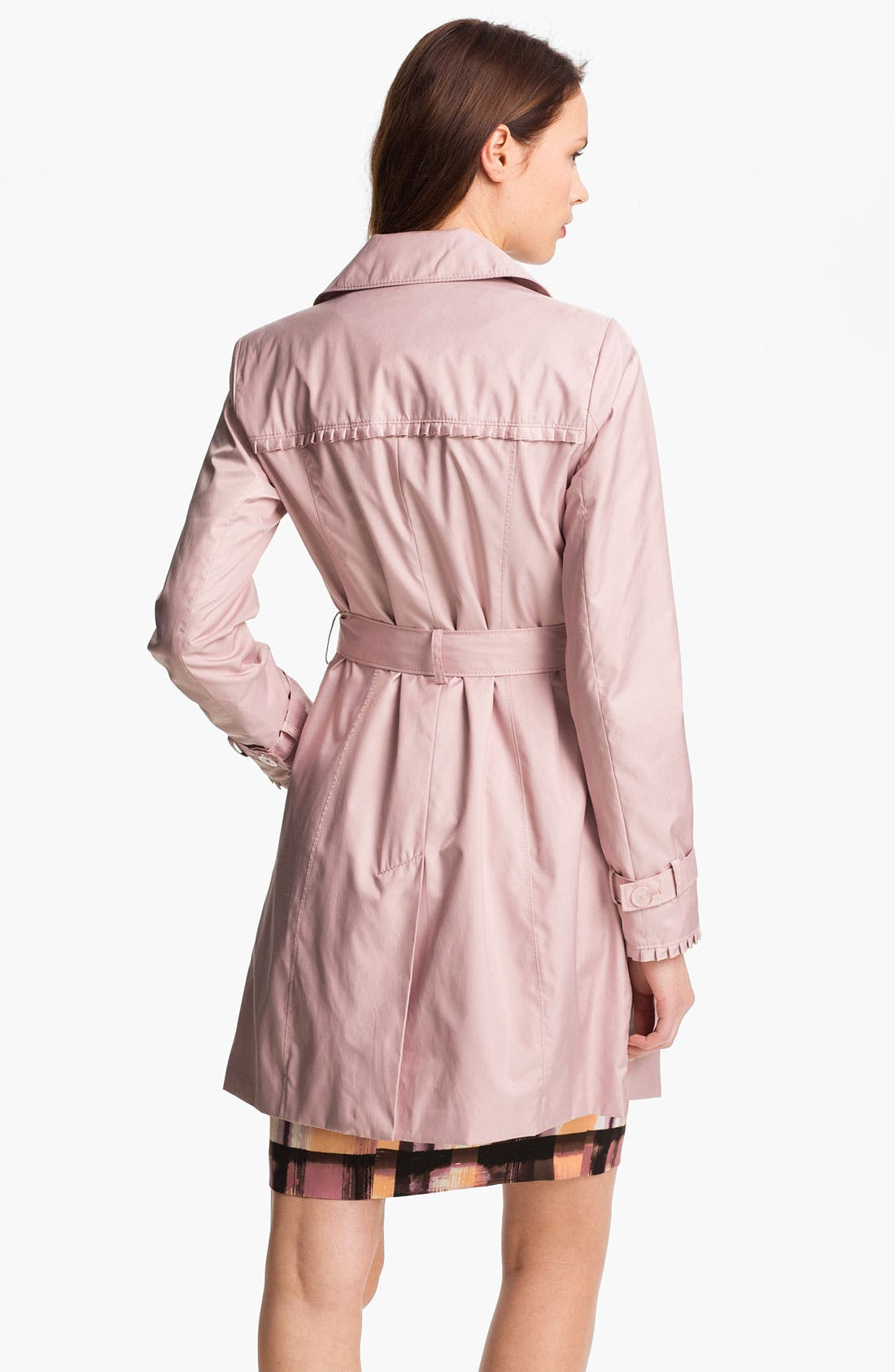 Alternate Image 2  - Ivanka Trump Pleat Trim Trench Coat (Online Only)