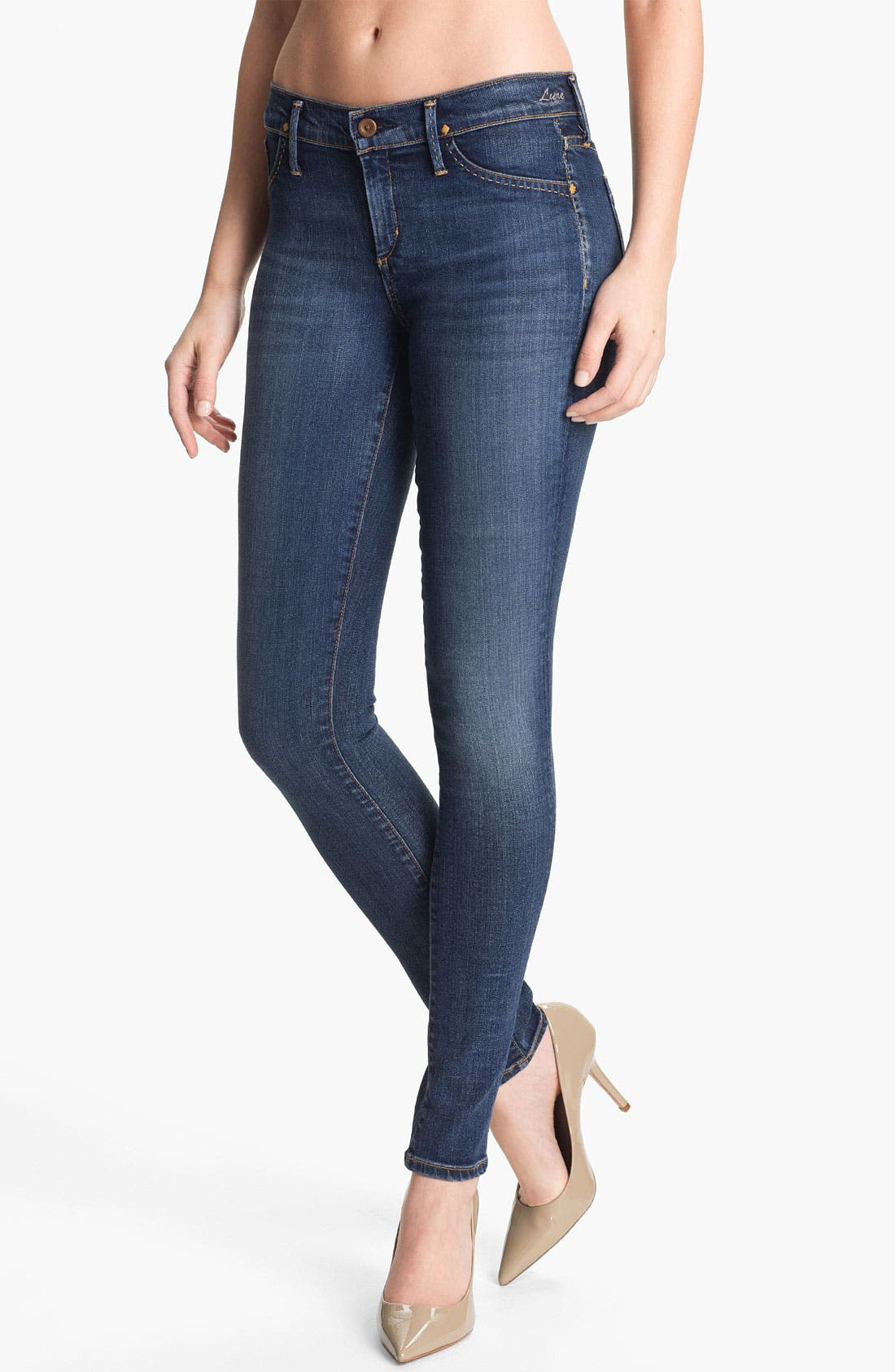 Alternate Image 1 Selected - Goldsign 'Lure' Skinny Stretch Jeans (Zagir)