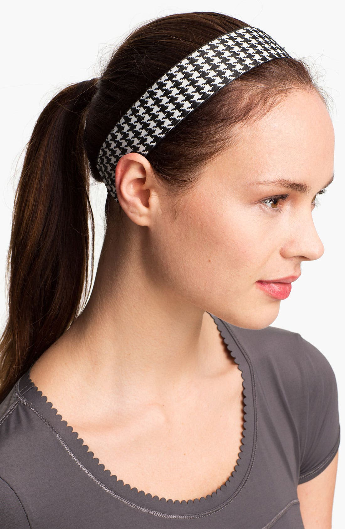 Alternate Image 1 Selected - Sweaty Bands Houndstooth Head Wrap