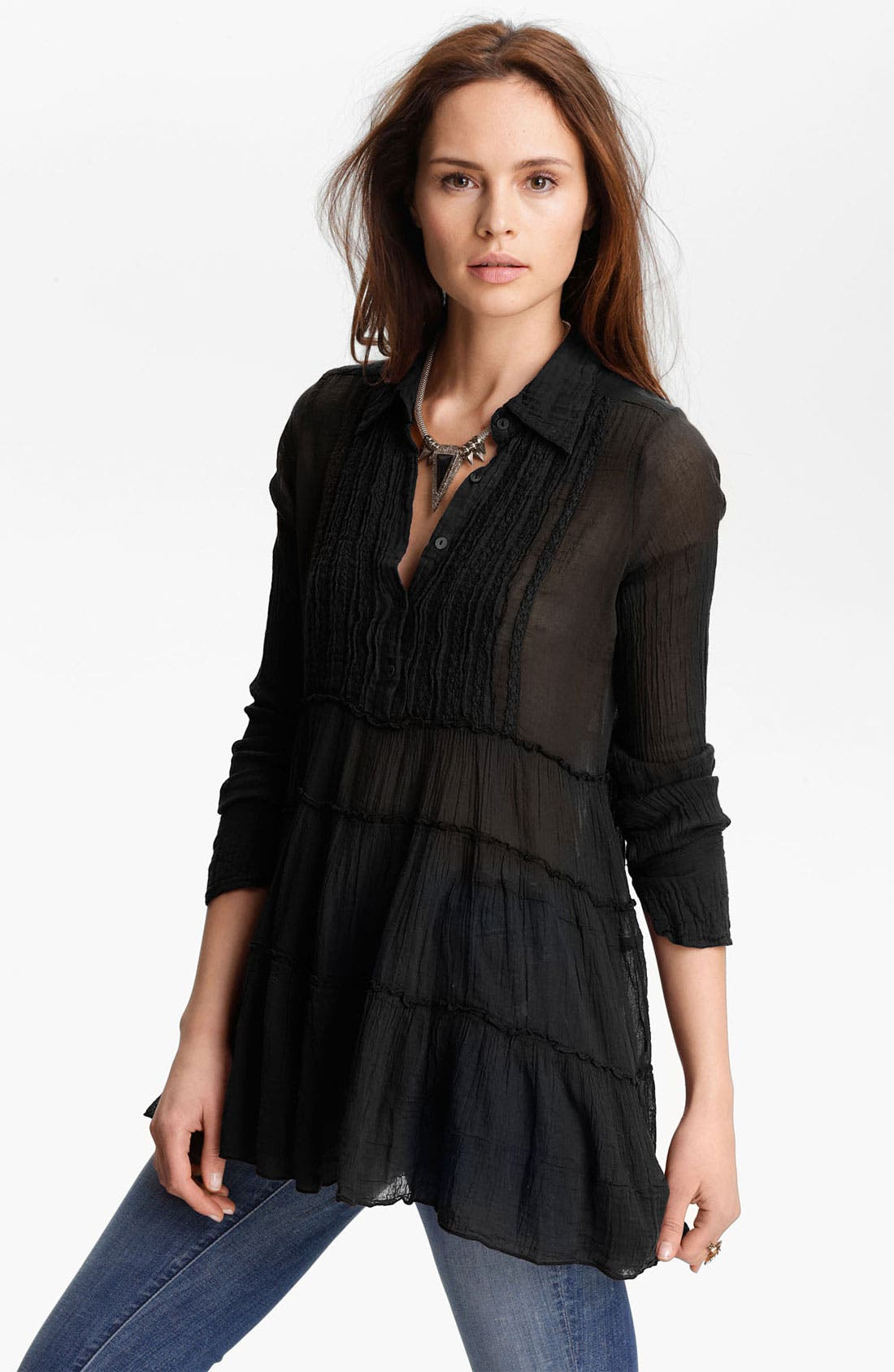 Alternate Image 1 Selected - Free People Tiered Gauze Tux Tunic
