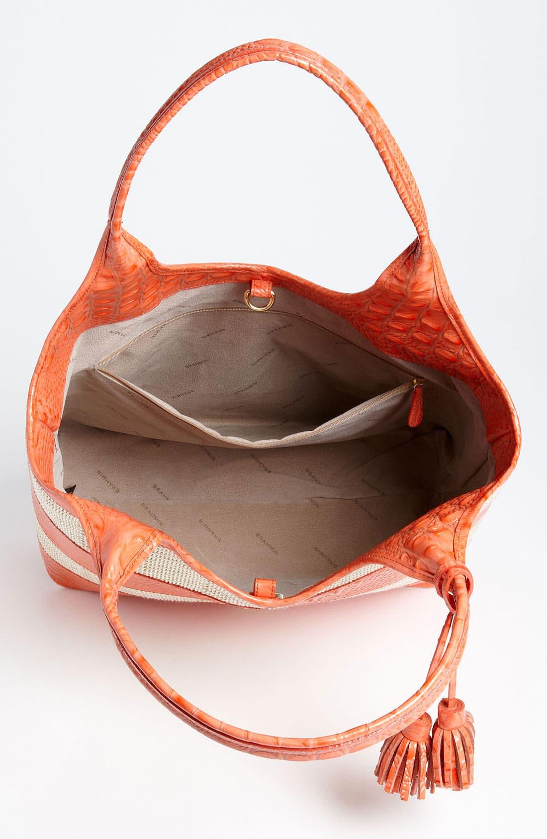 Alternate Image 3  - Brahmin 'Vineyard' Leather & Raffia Shopper